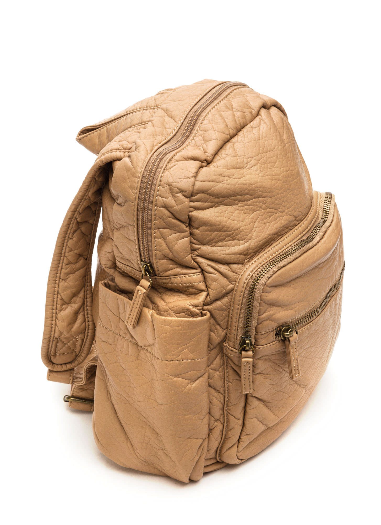 Study Buddy Faux Leather Backpack TAUPE