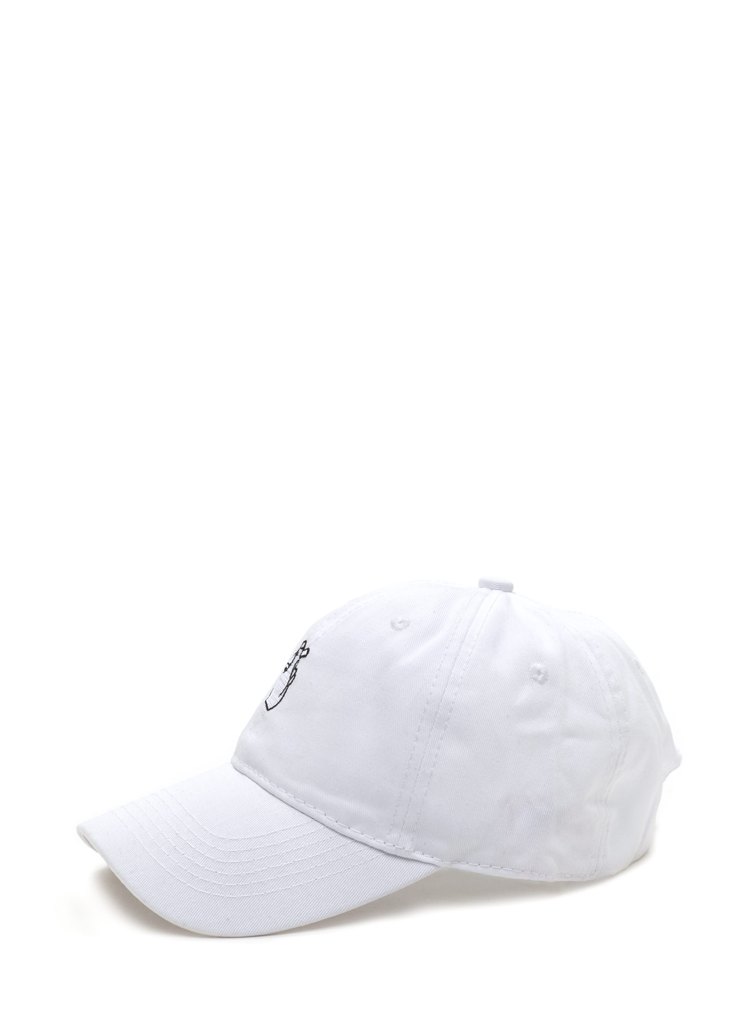 Snap Decisions Embroidered Cap WHITE