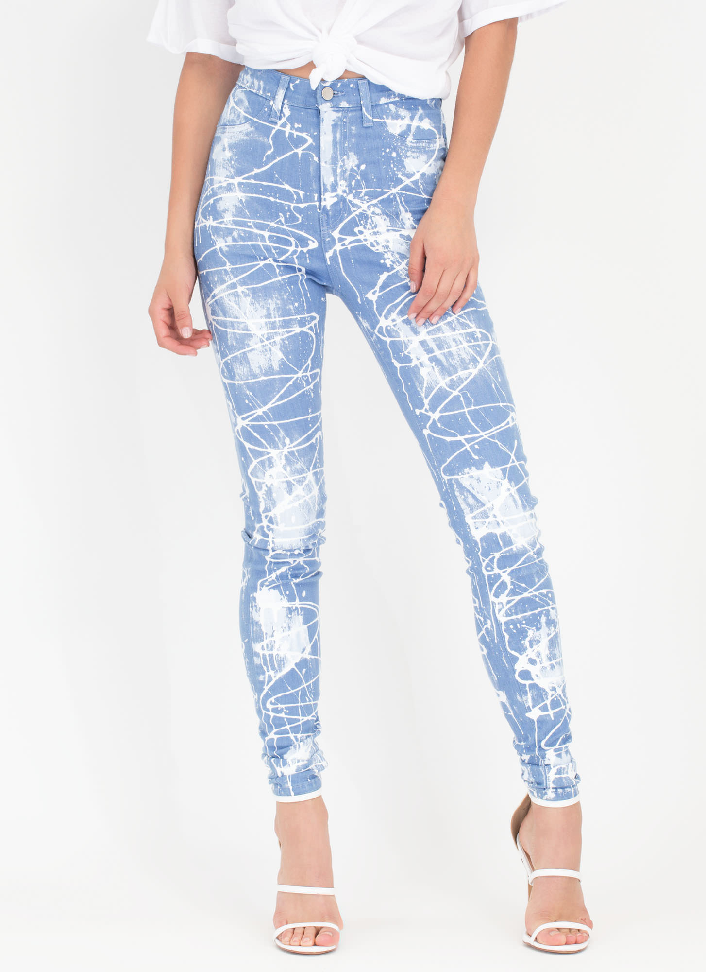 Painted Love High-Waisted Skinny Jeans LTBLUE