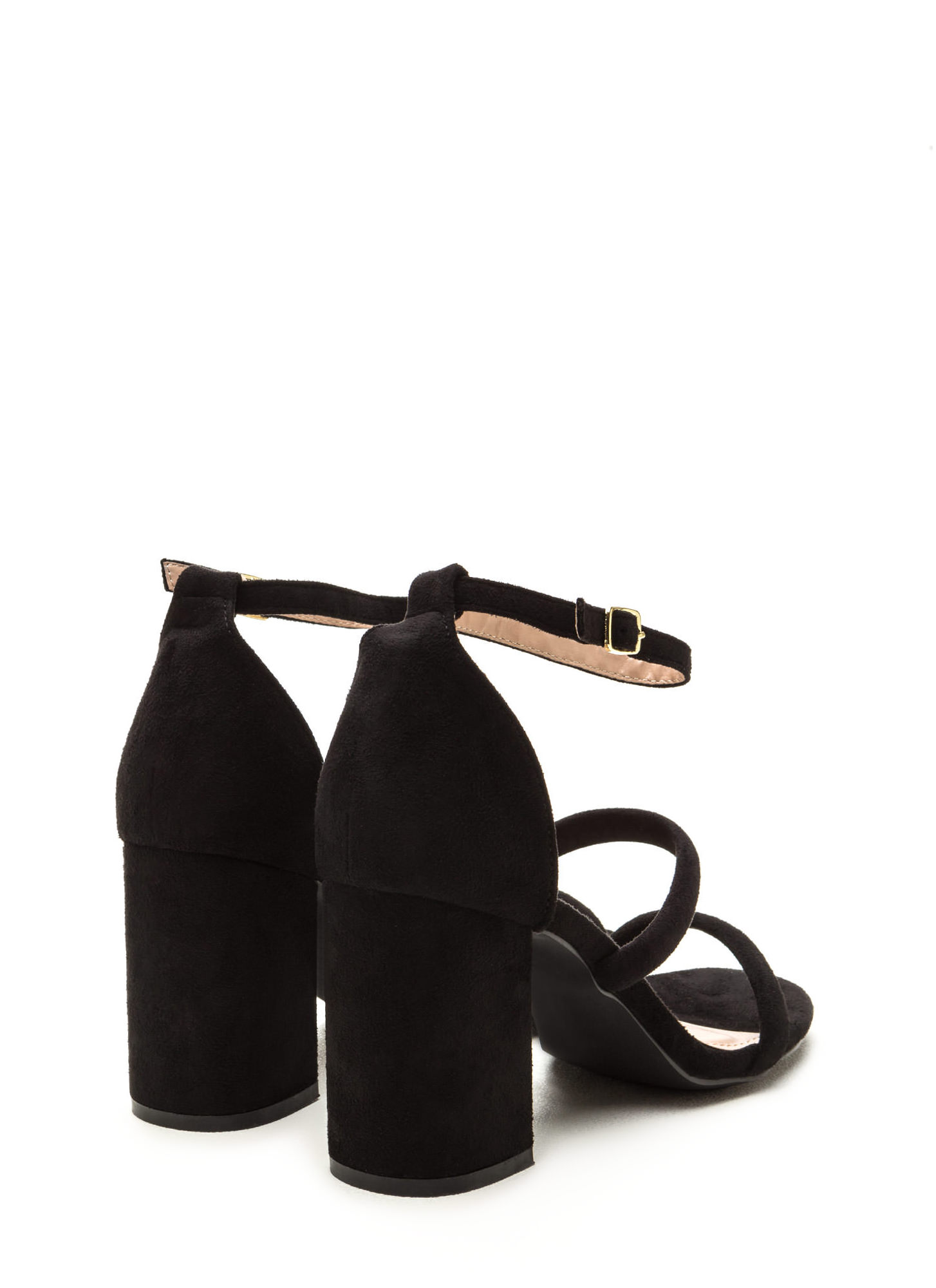 New Muse Strappy Block Heels BLACK