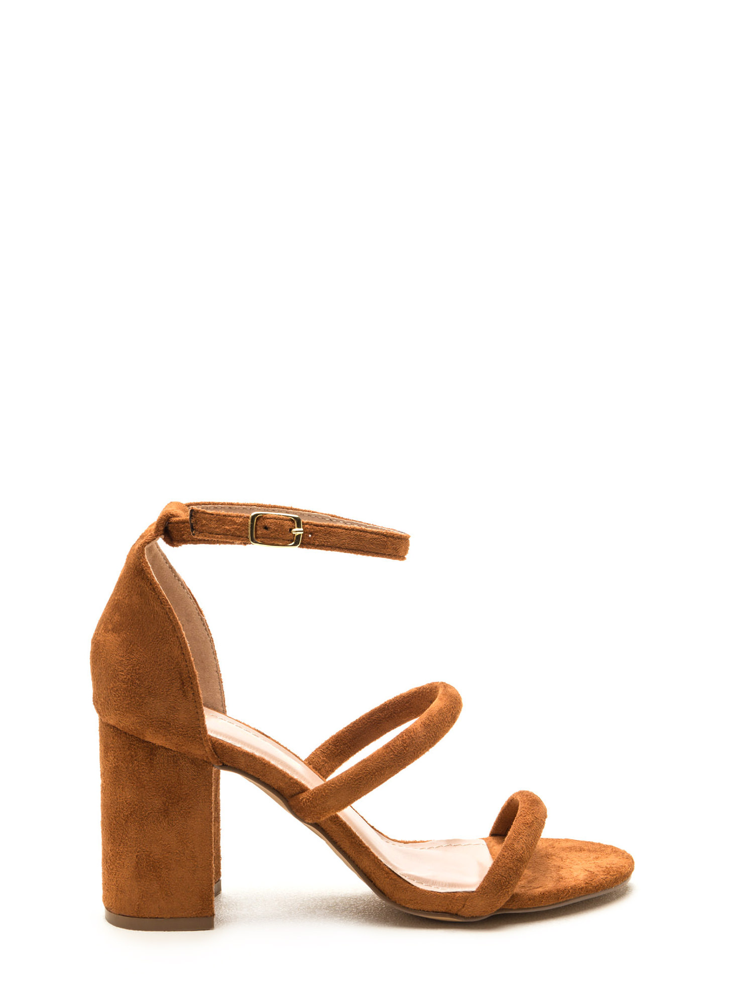 New Muse Strappy Block Heels CHESTNUT