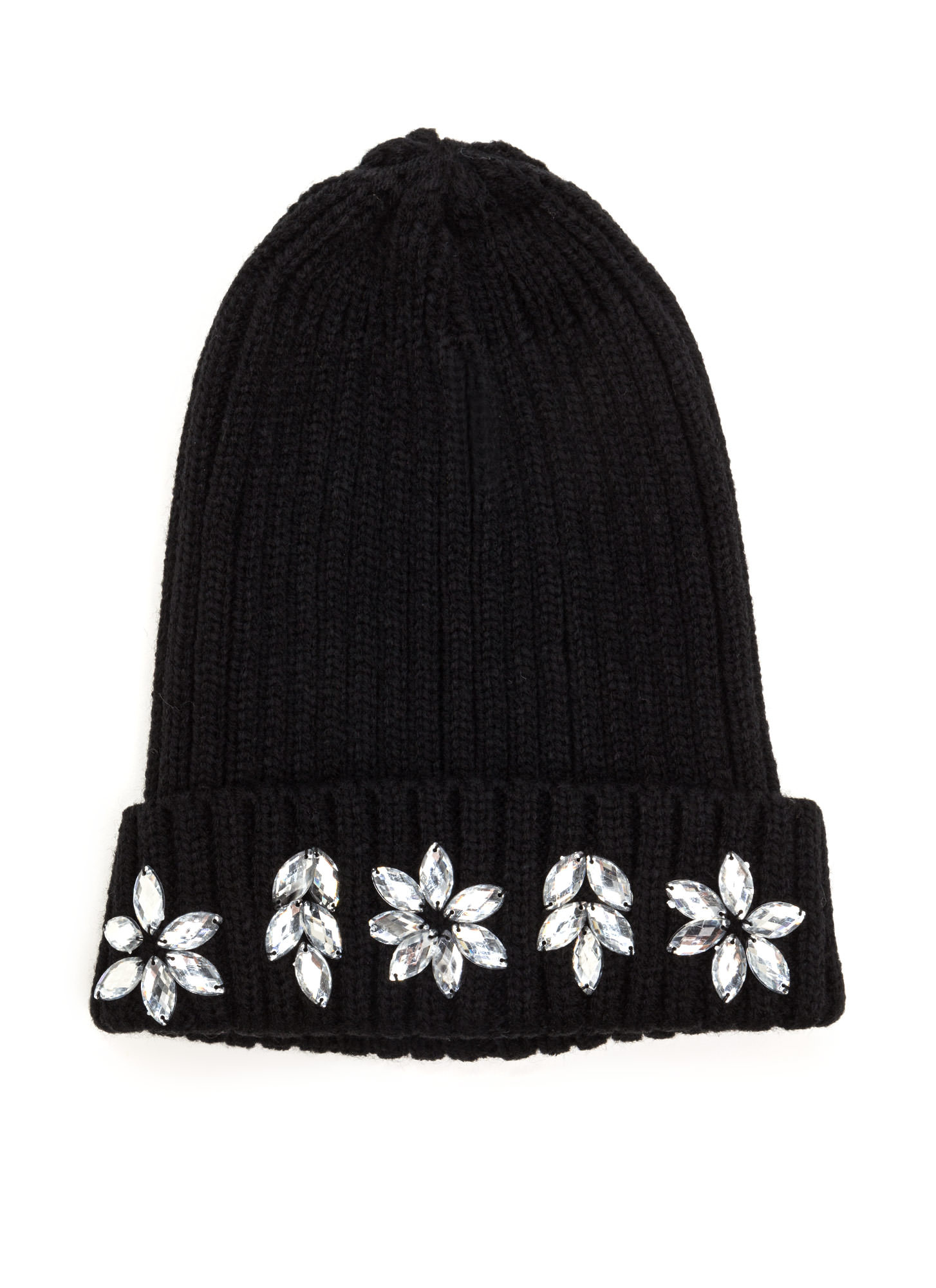 Just Fleur You Jeweled Beanie BLACK