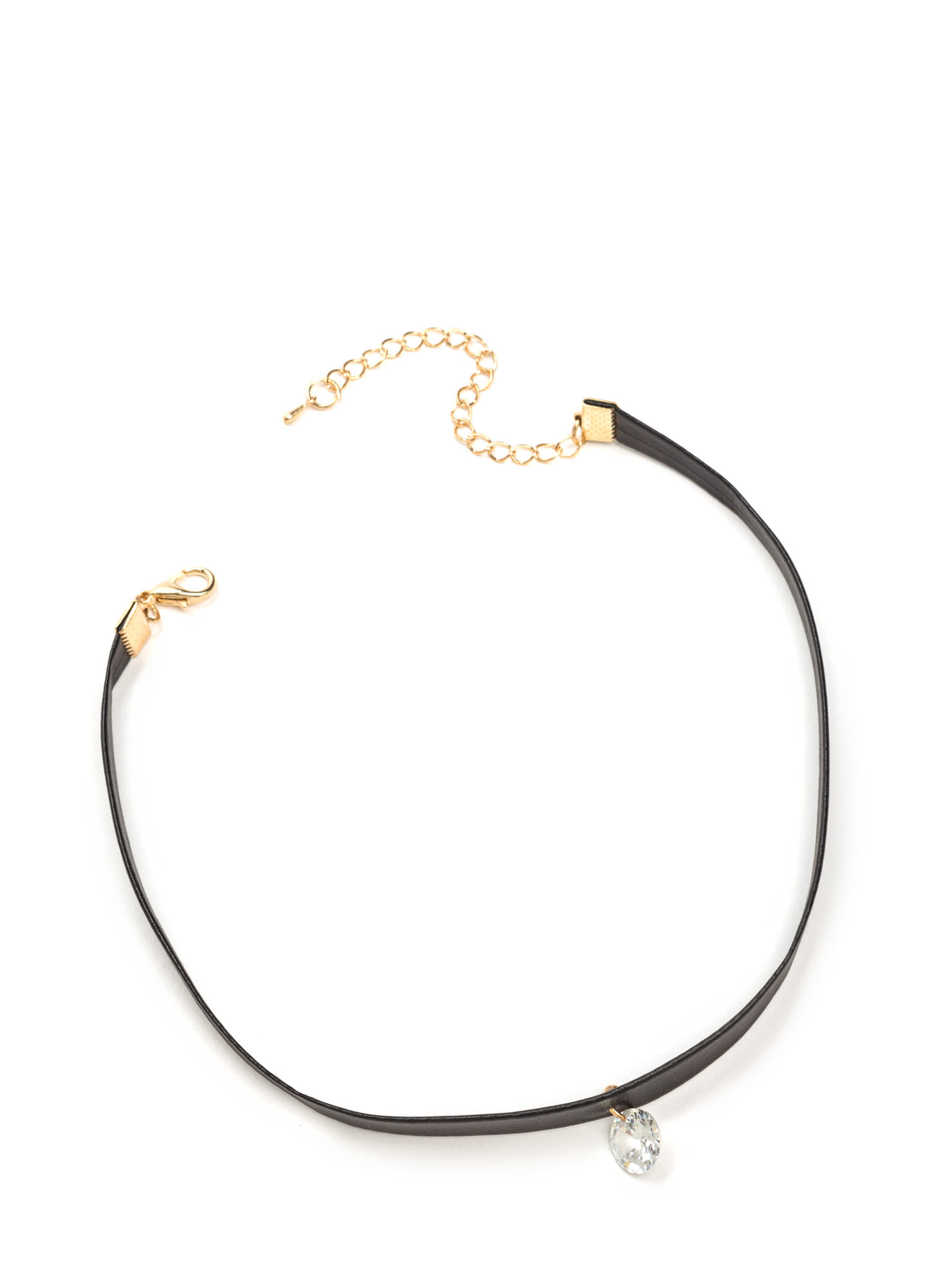 Single Life Faux Jewel Choker BLACKCLEAR