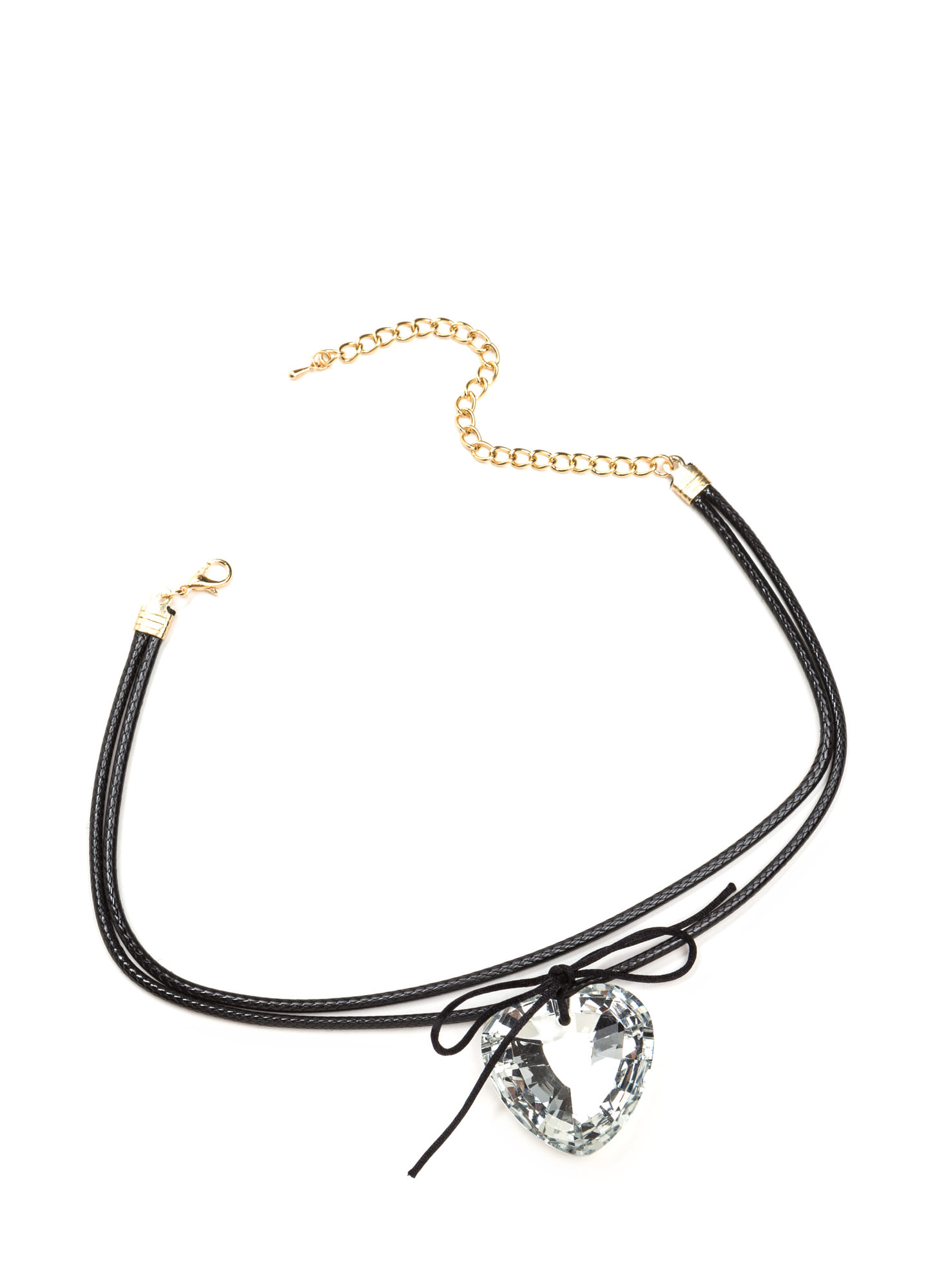 Straight To The Heart Faux Jewel Choker BLACKCLEAR