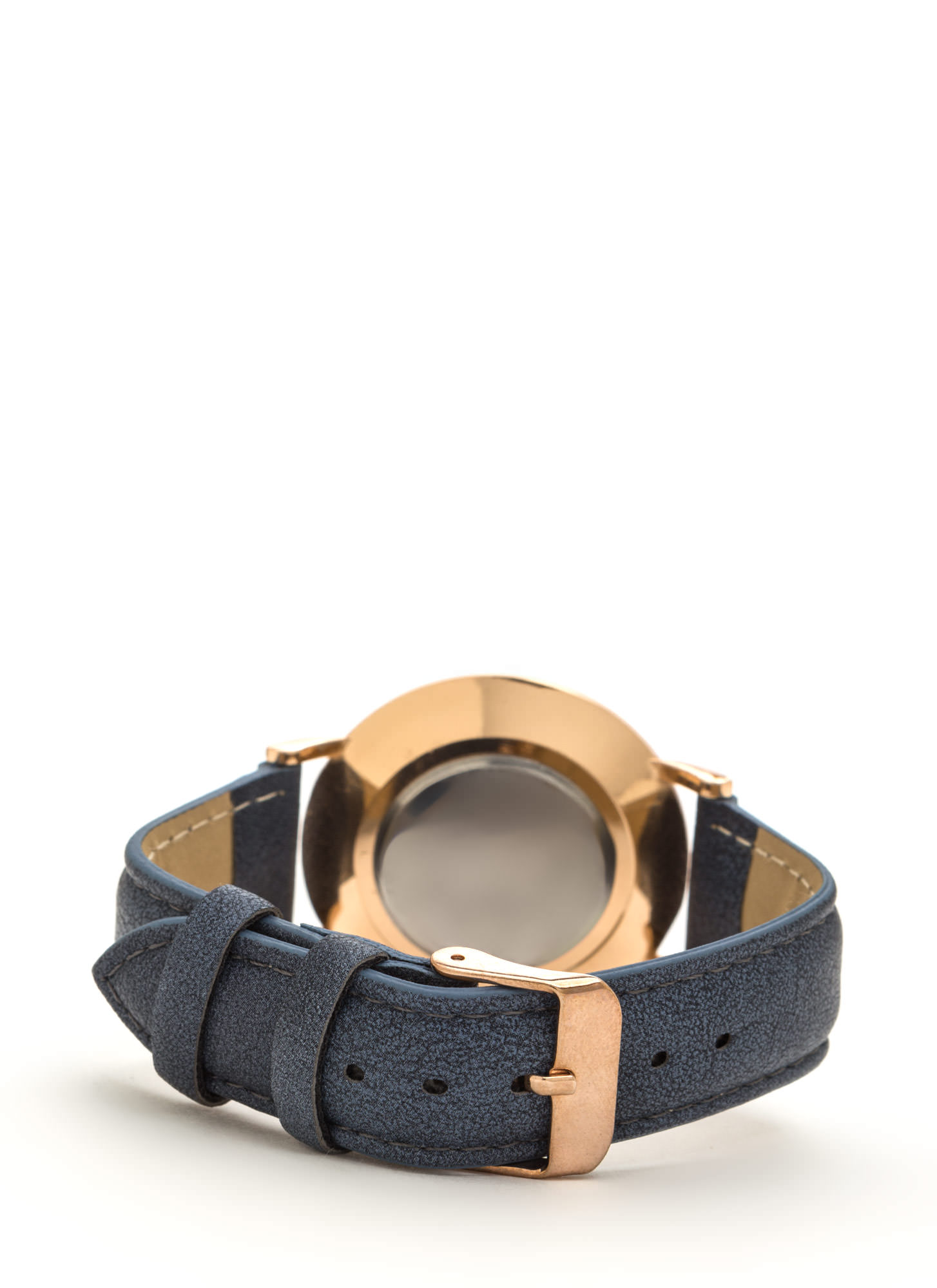 Clean Slate Faux Leather Watch NAVY