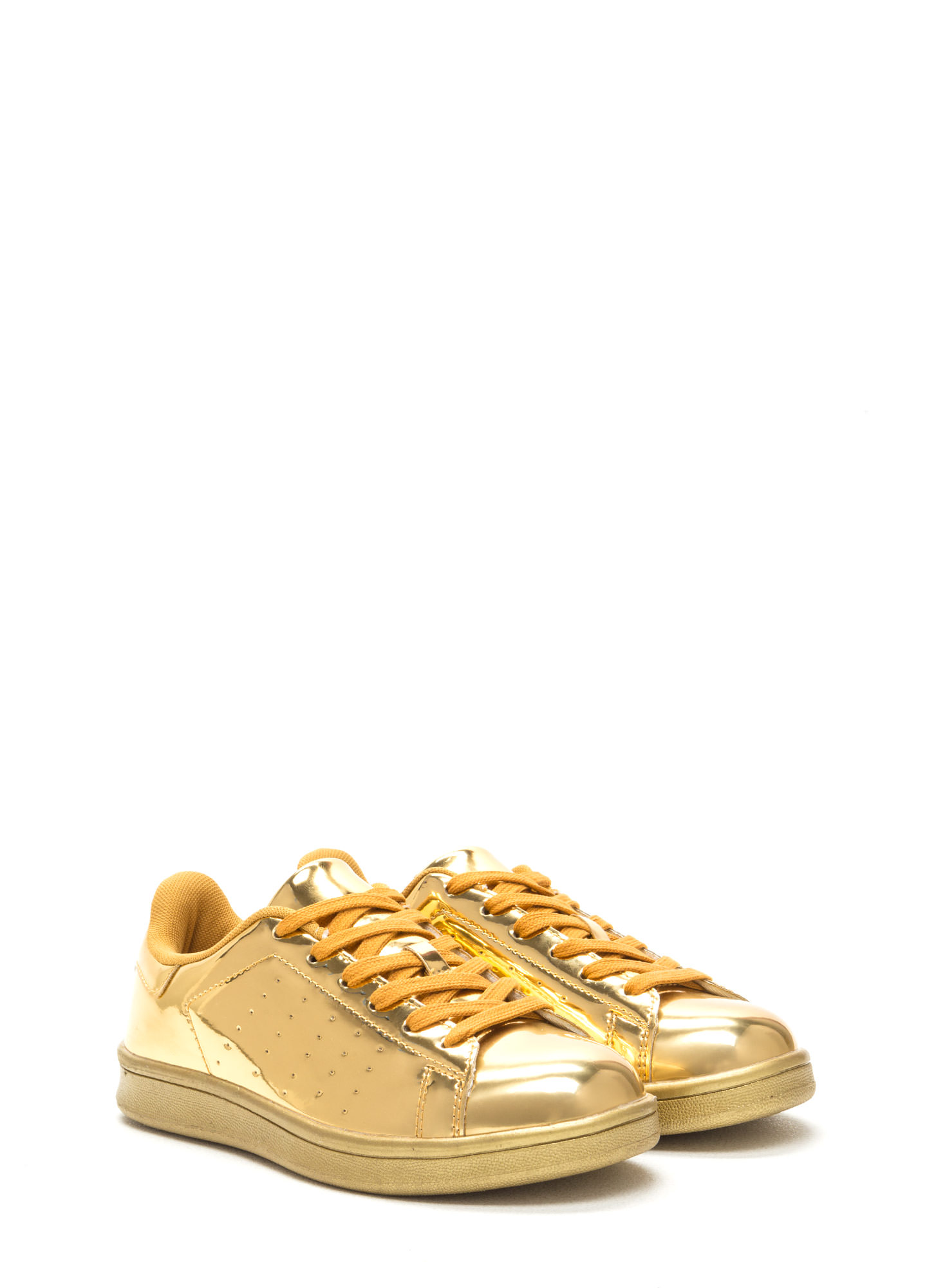Sole Seeker Metallic Sneakers GOLD