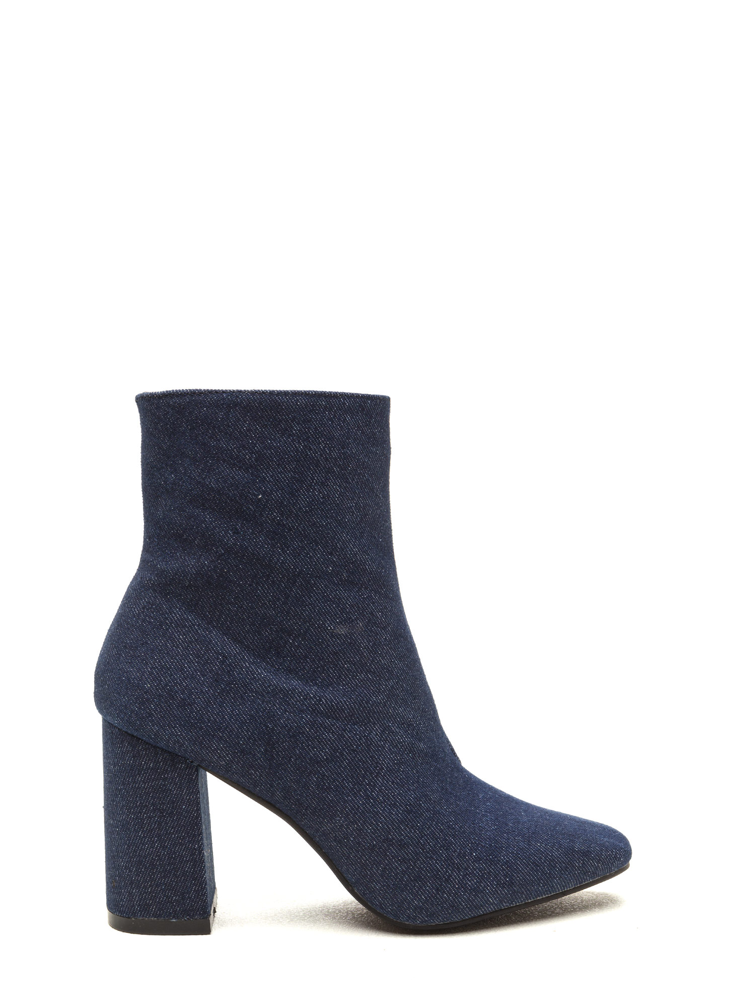 All Squared Away Denim Booties BLUE