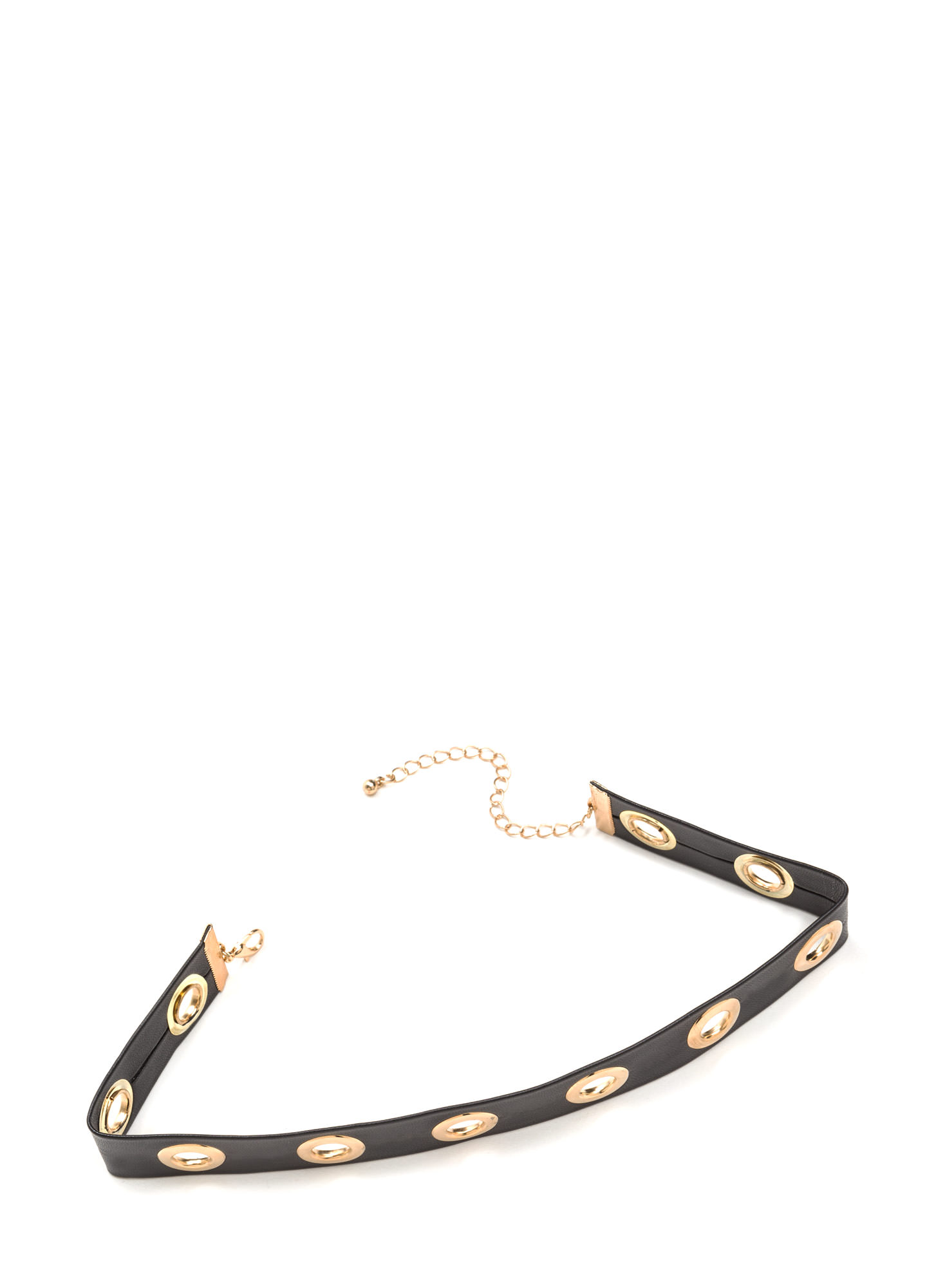 Girl In Grommets Wide Cut-Out Choker BLACKGOLD