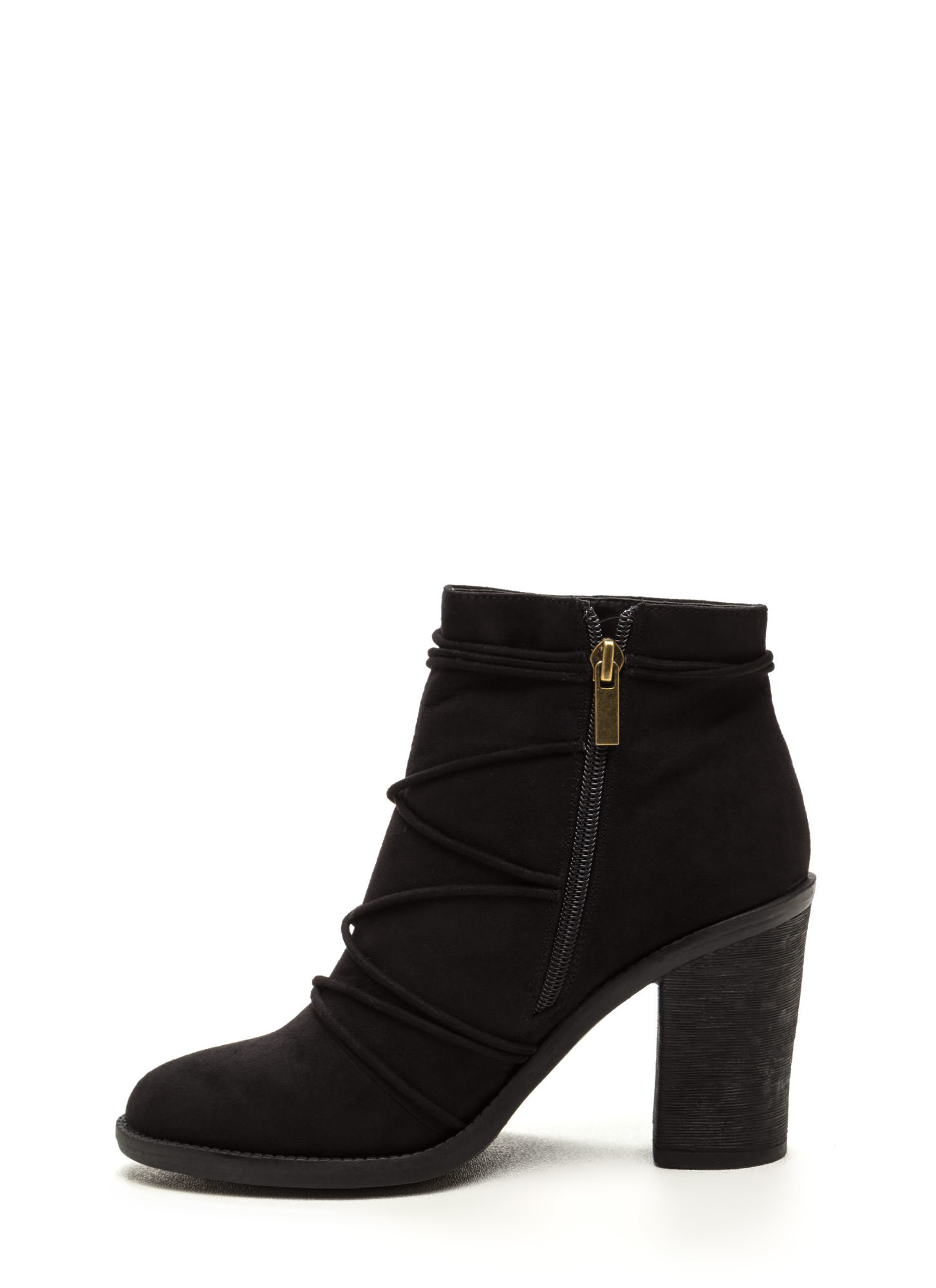 Any Way You Lace It Chunky Booties BLACK