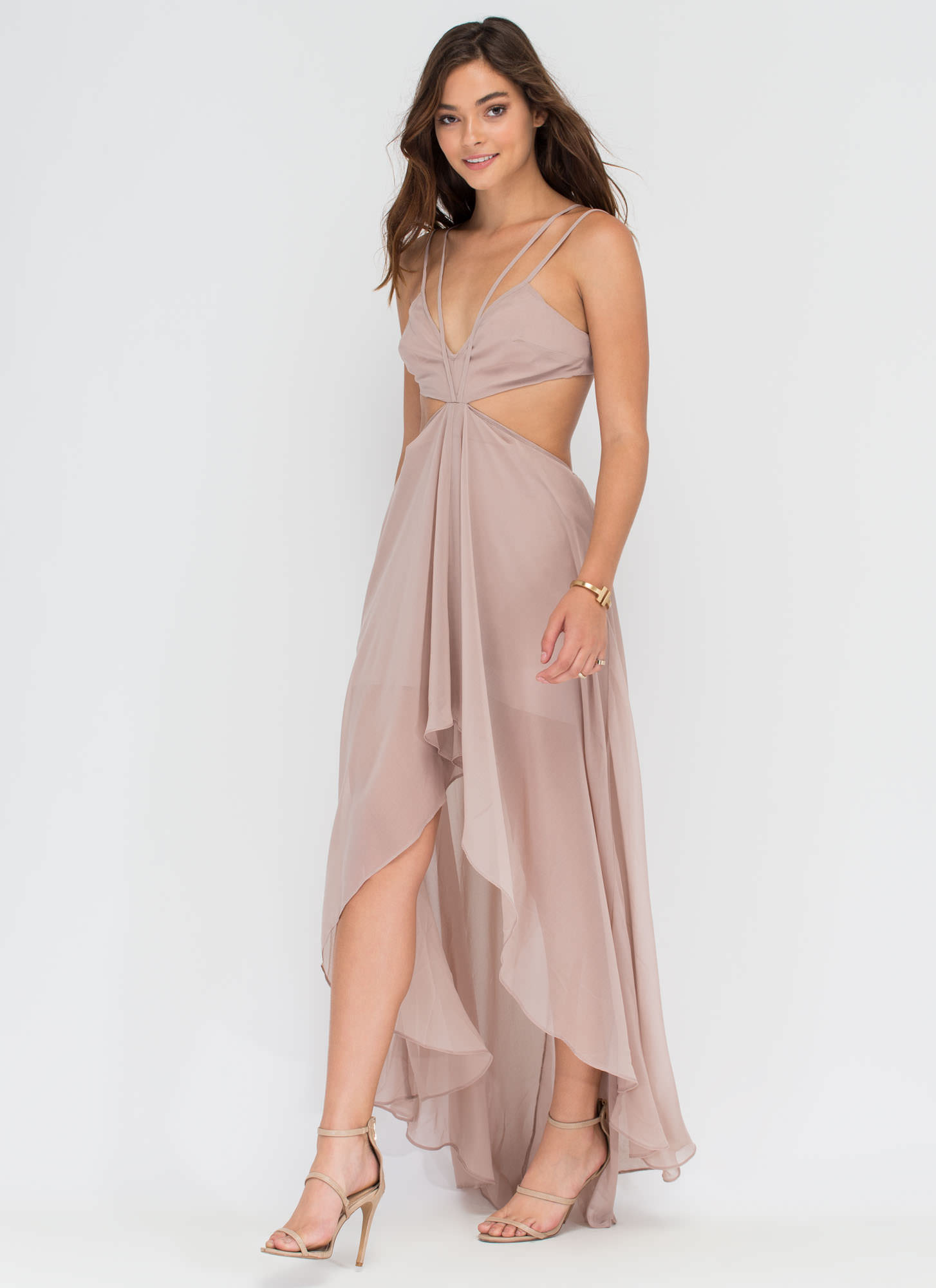 Rule The Runway High-Low Dress GREY (Final Sale)