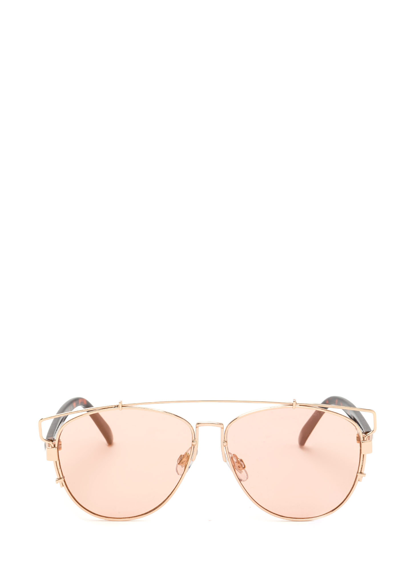 Finders Keepers Aviator Sunglasses PINKGOLD
