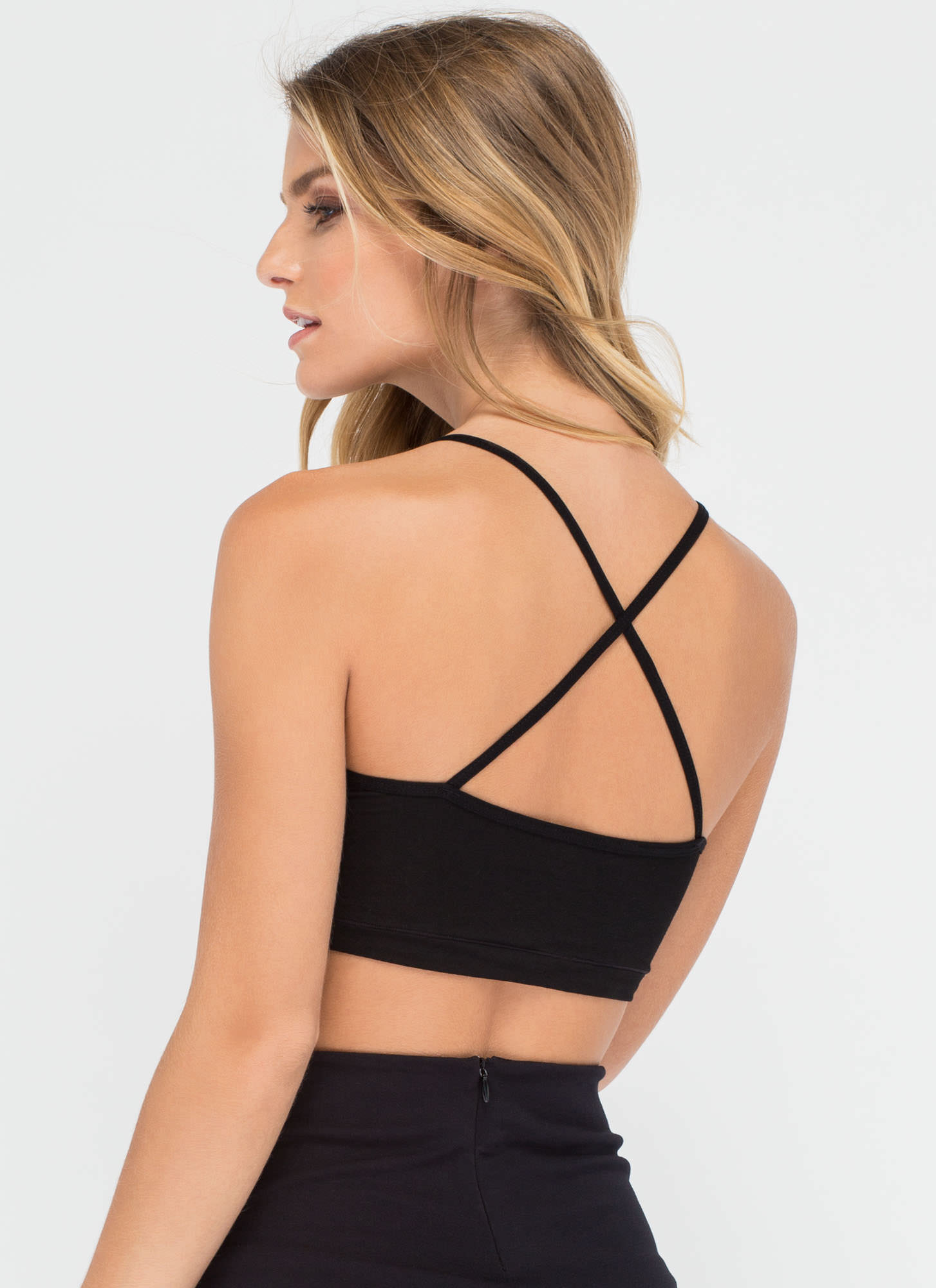 Underneath It All Solid Bralette BLACK (Final Sale)