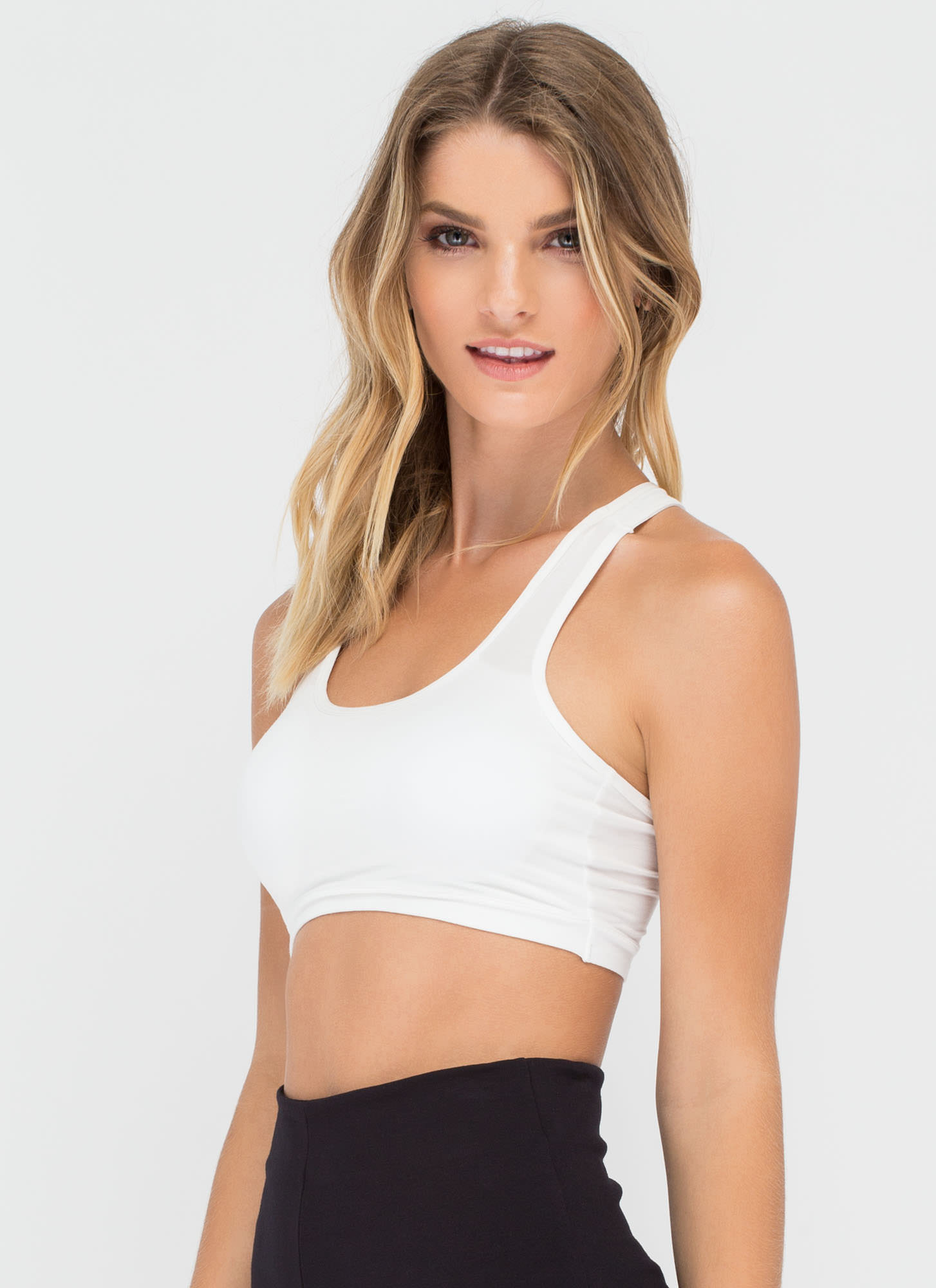 Six Education Caged Back Bralette WHITE (Final Sale)