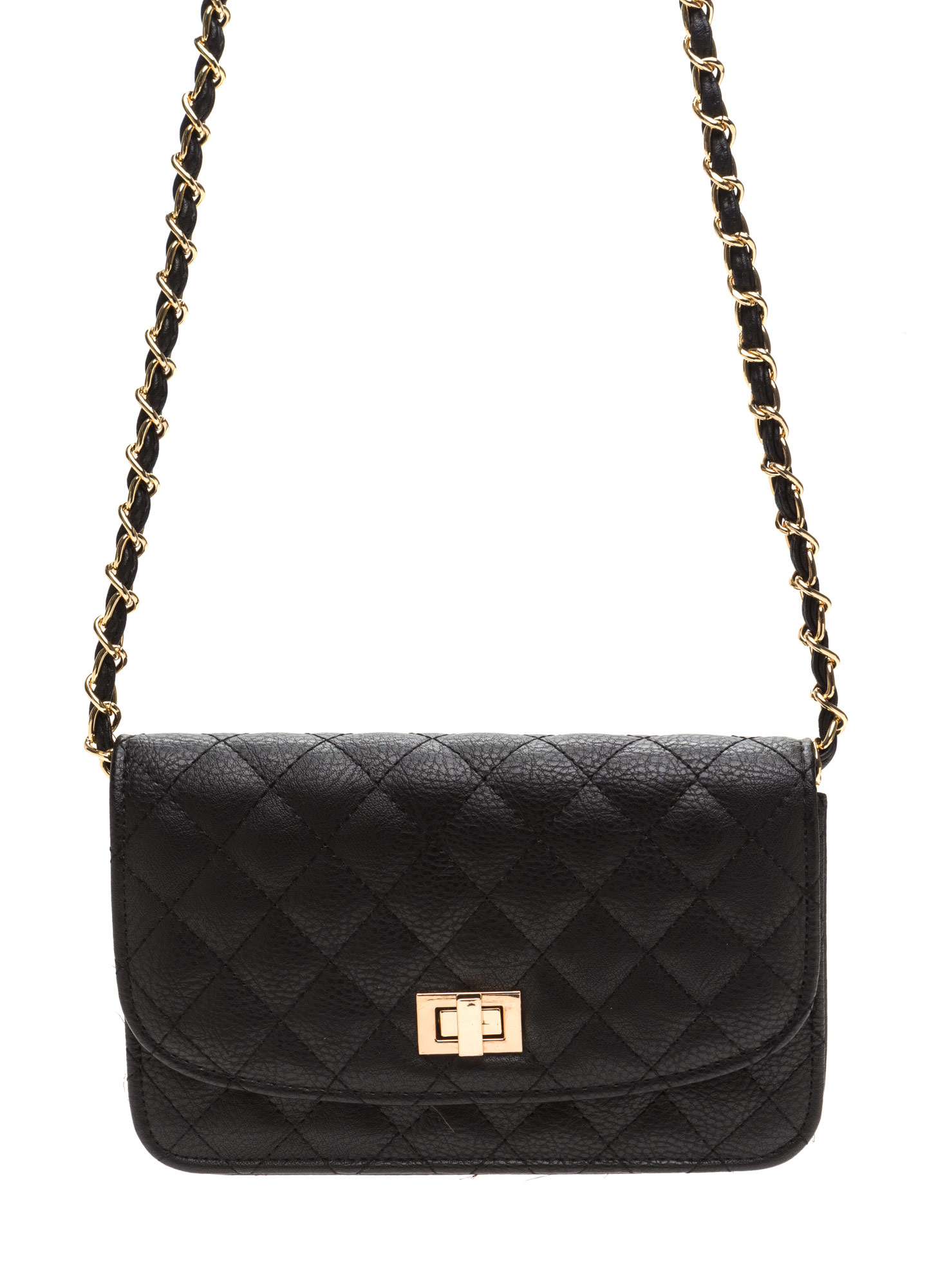 Classic 'N Chic Quilted Purse BLACK