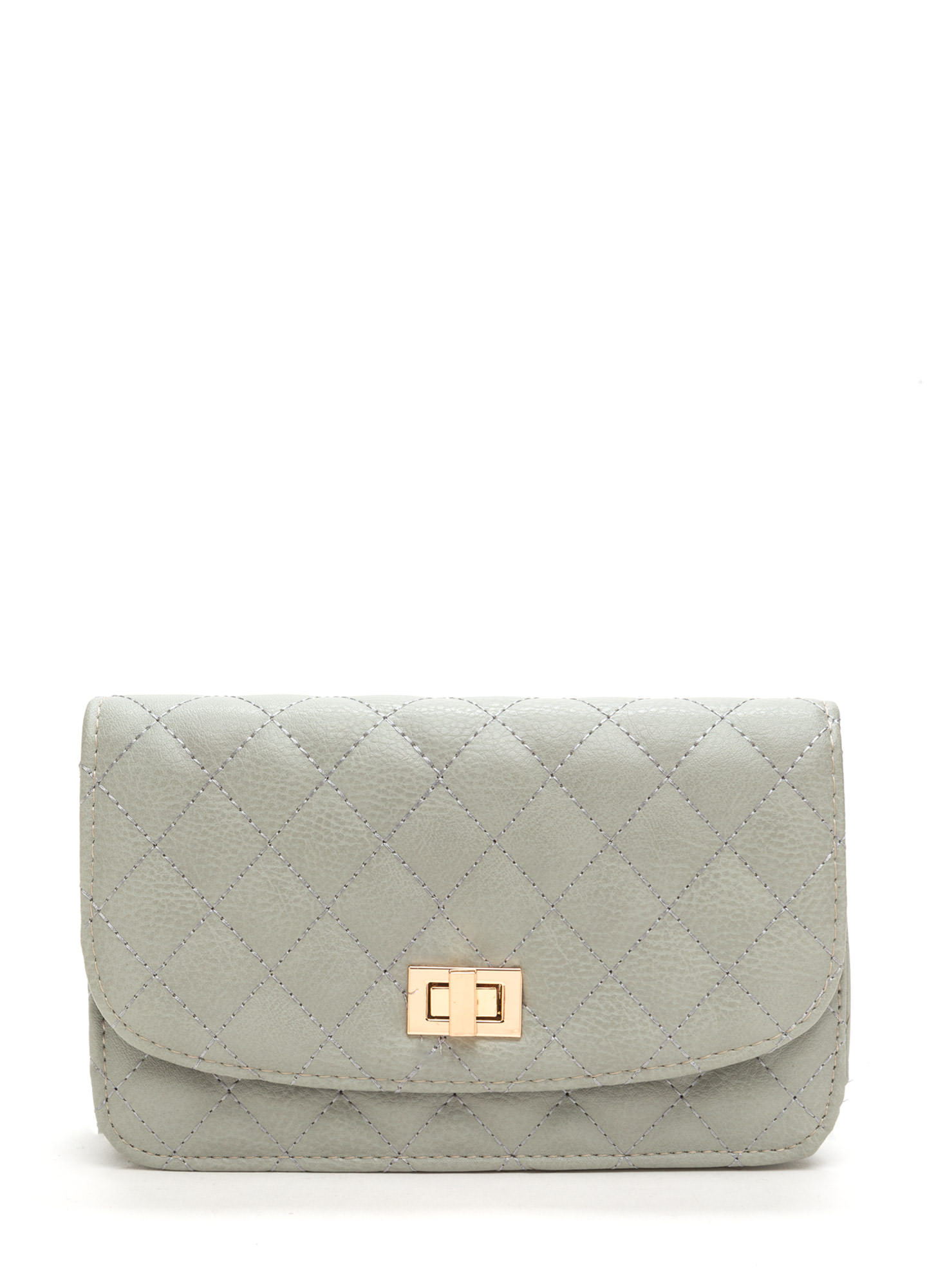 Classic 'N Chic Quilted Purse GREY