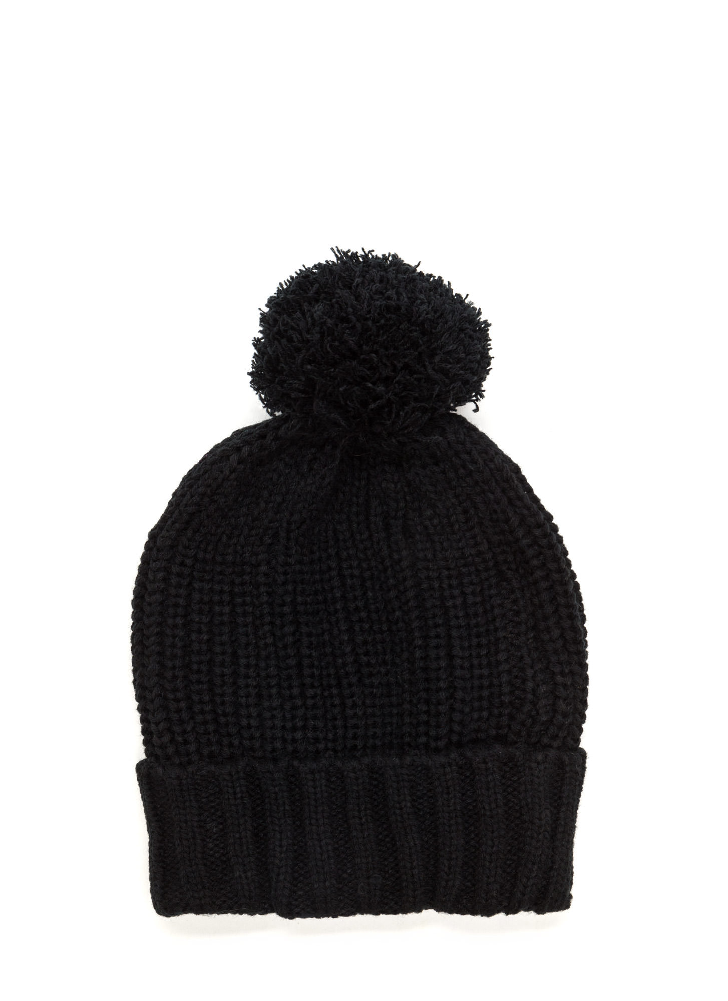 Mane Event Double Button Chunky Beanie BLACK