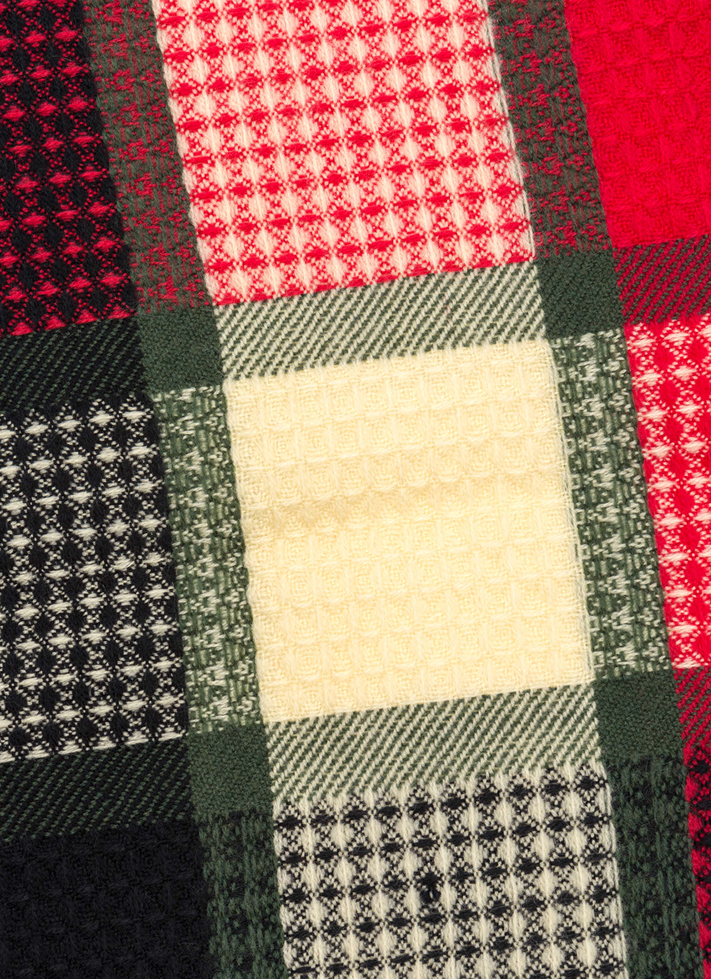Mad For Plaid Fringed Scarf REDMULTI