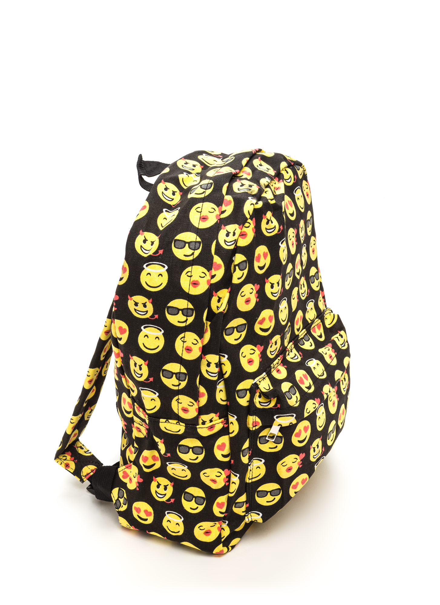 Choked By Emotion Printed Emoji Backpack BLACKMULTI