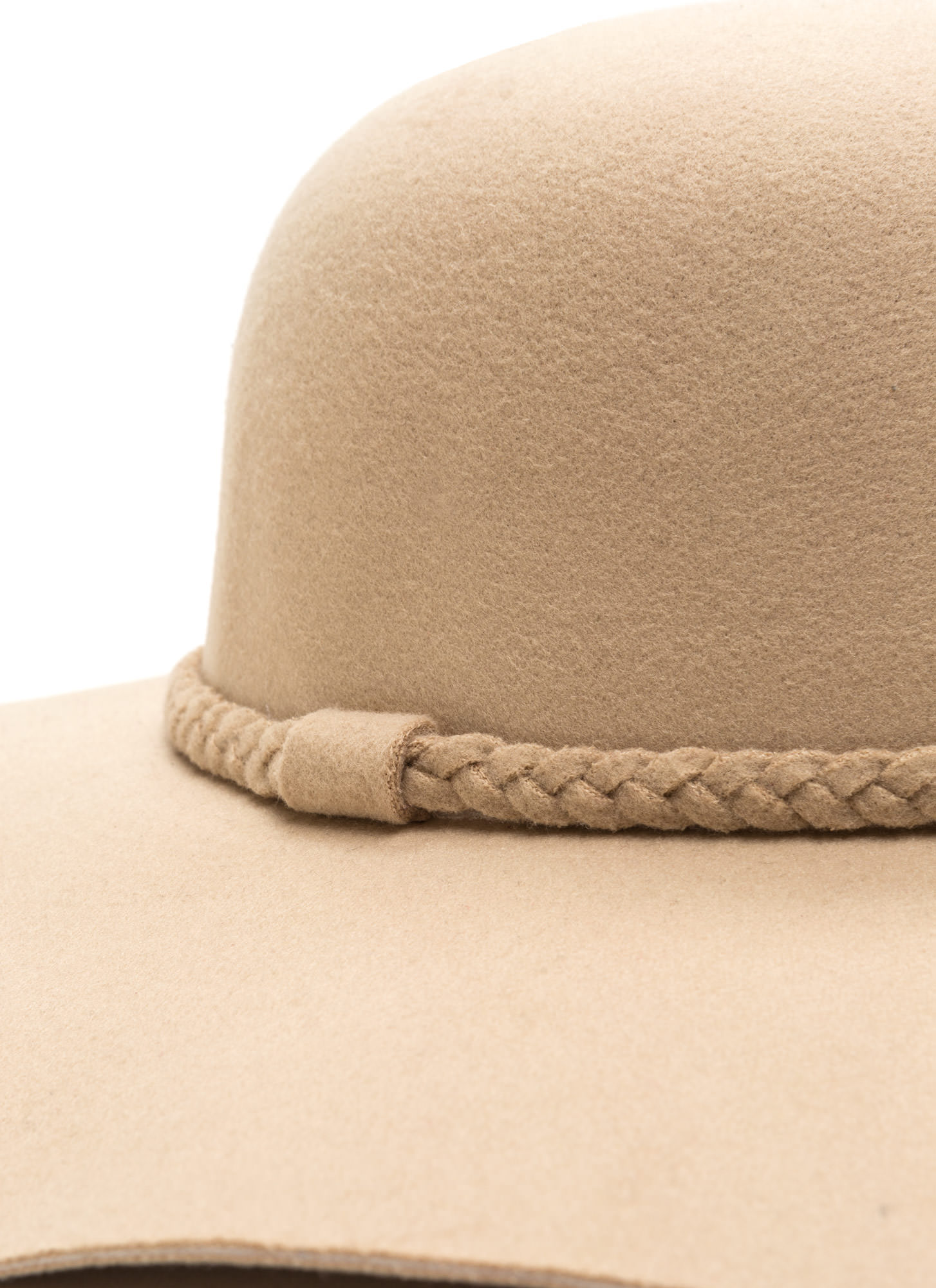 Braided Beauty Floppy Felted Hat IVORY