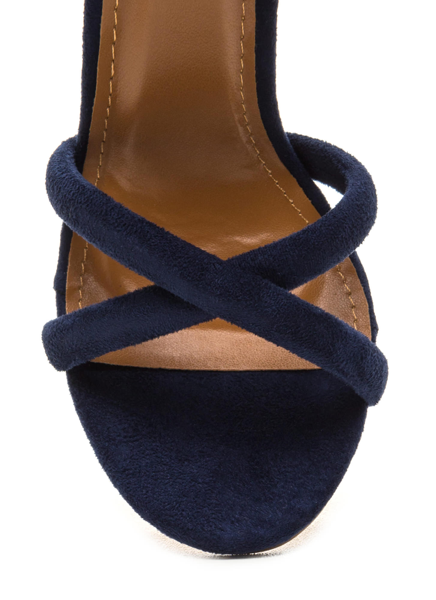 X Game Faux Suede Chunky Heels BLUE