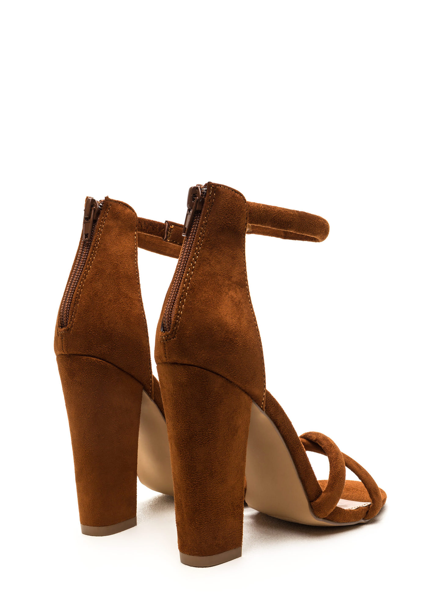 X Game Faux Suede Chunky Heels MOCHA