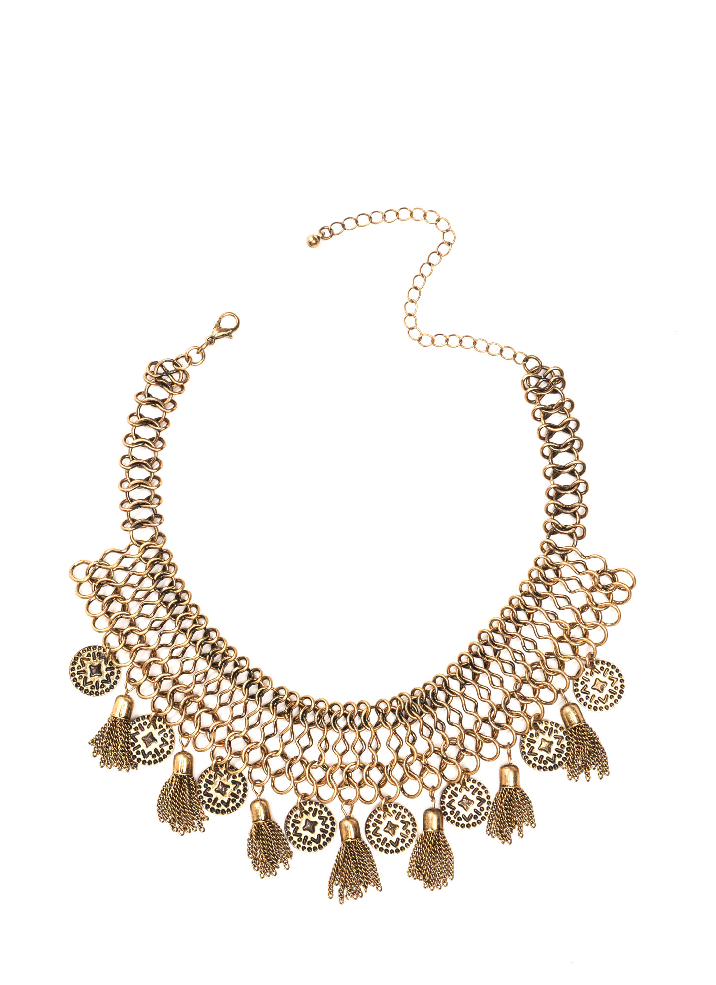 Lost City Metallic Statement Necklace DKGOLD