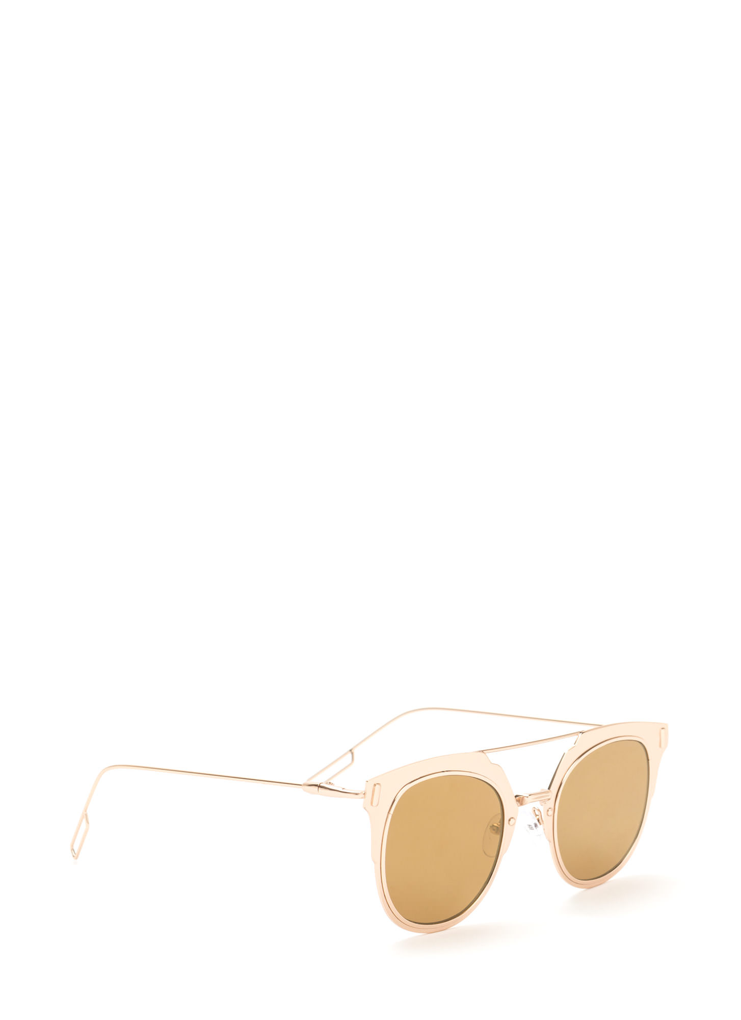 Hollywood Star Metallic Sunglasses GOLDBROWN