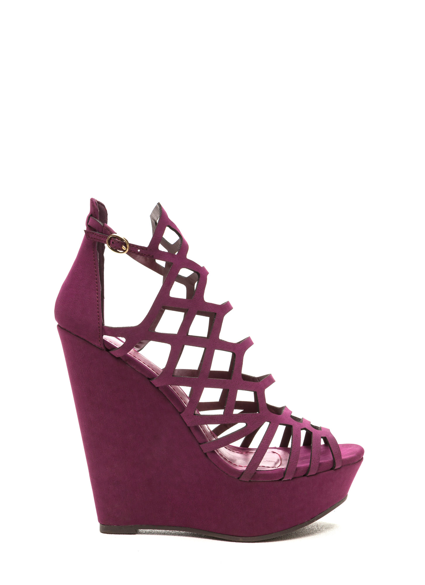 Lattice Dance Cut-Out Wedges WINE