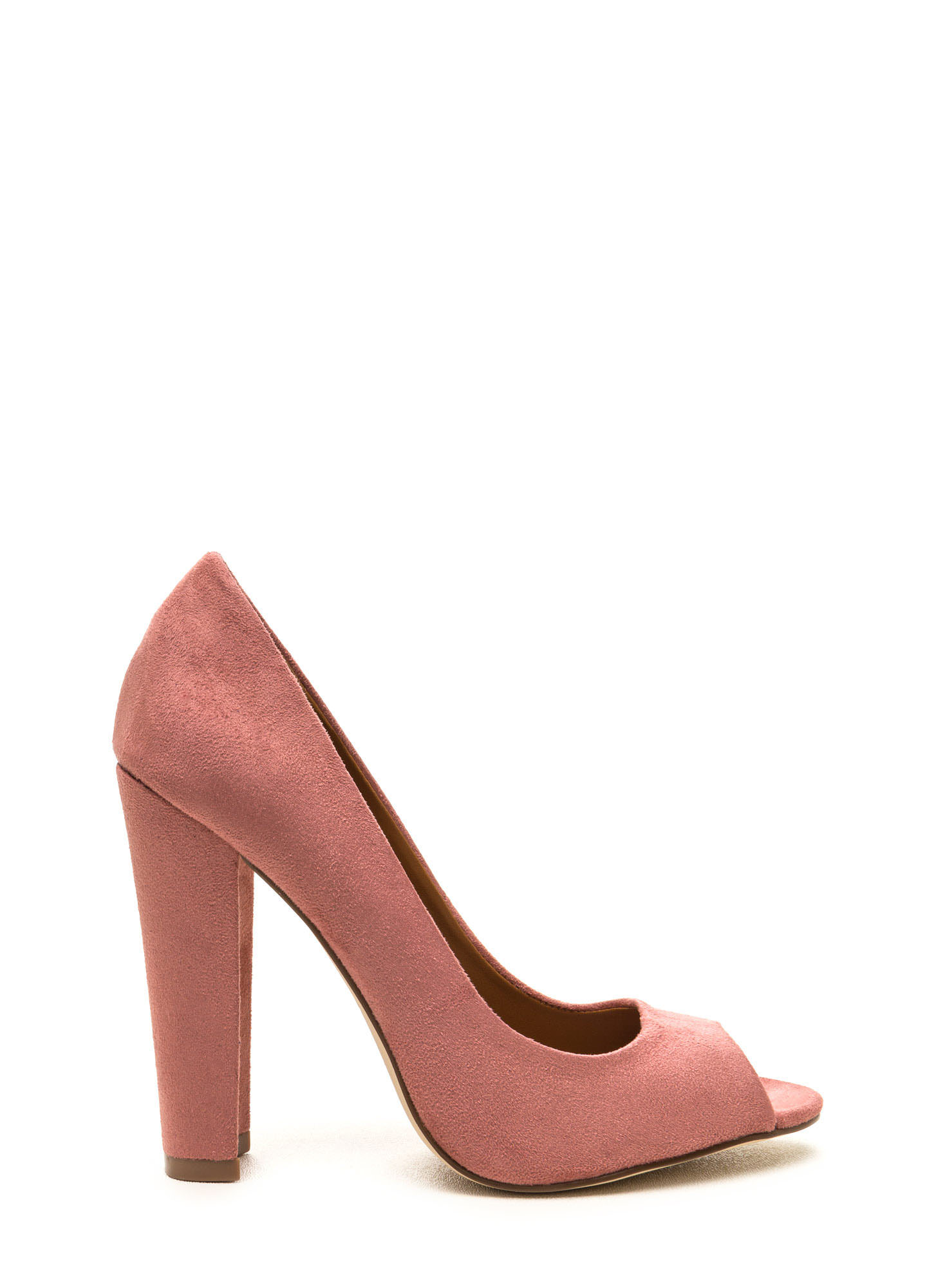 Bright Pink Peep Toe Heels - Is Heel