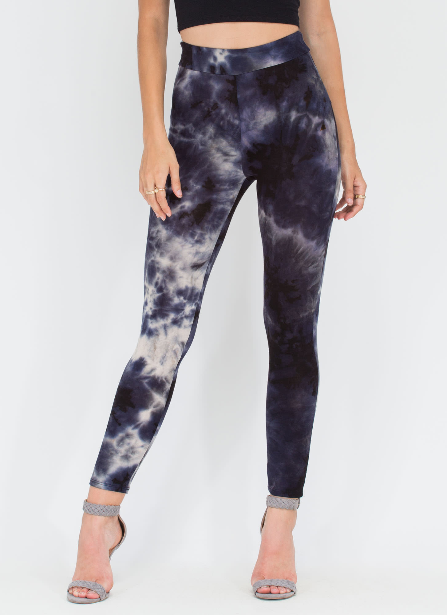 Dye Hard Fan Printed Leggings BLACK