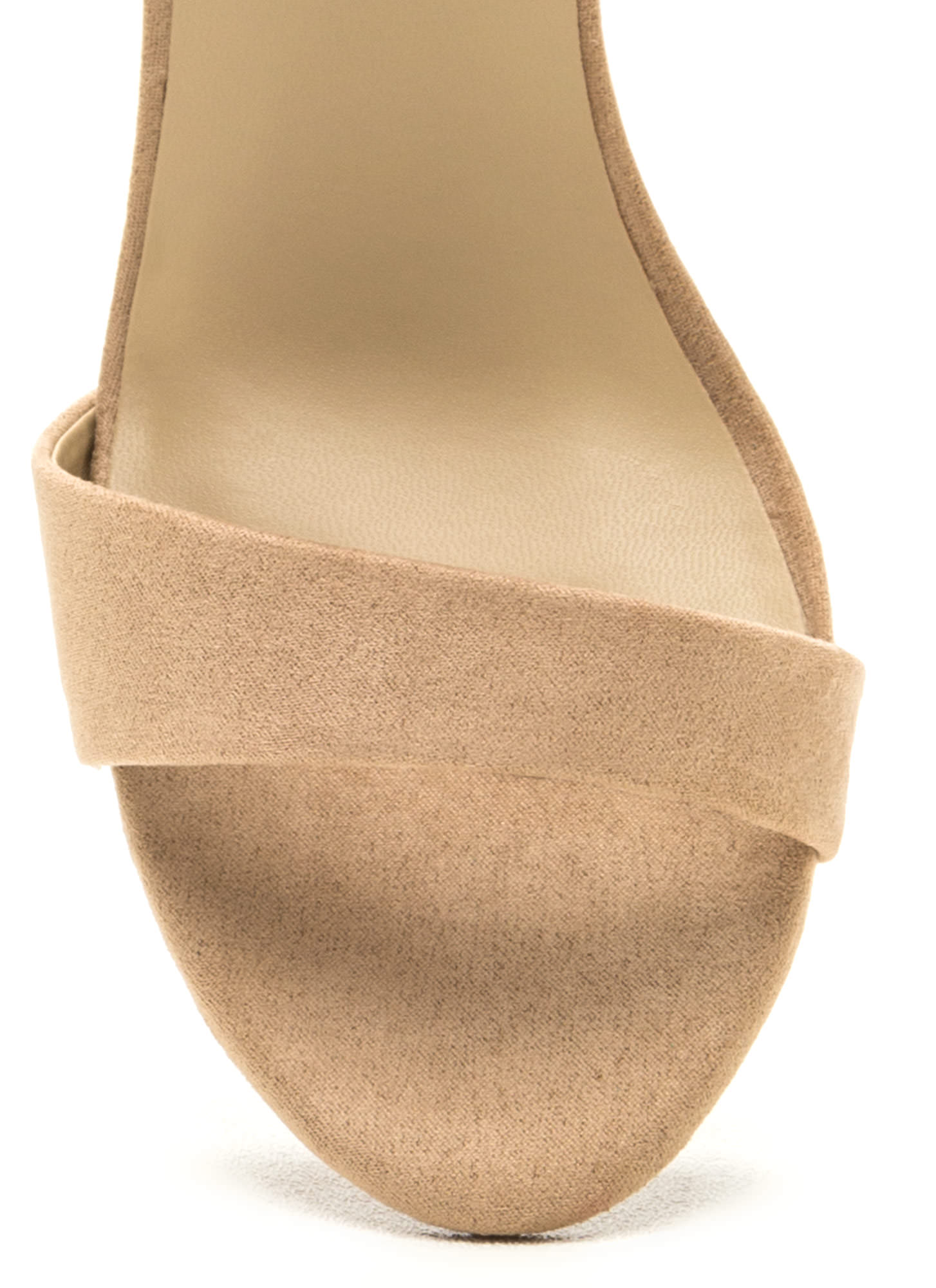 It Girl Classic Faux Suede Heels NATURAL