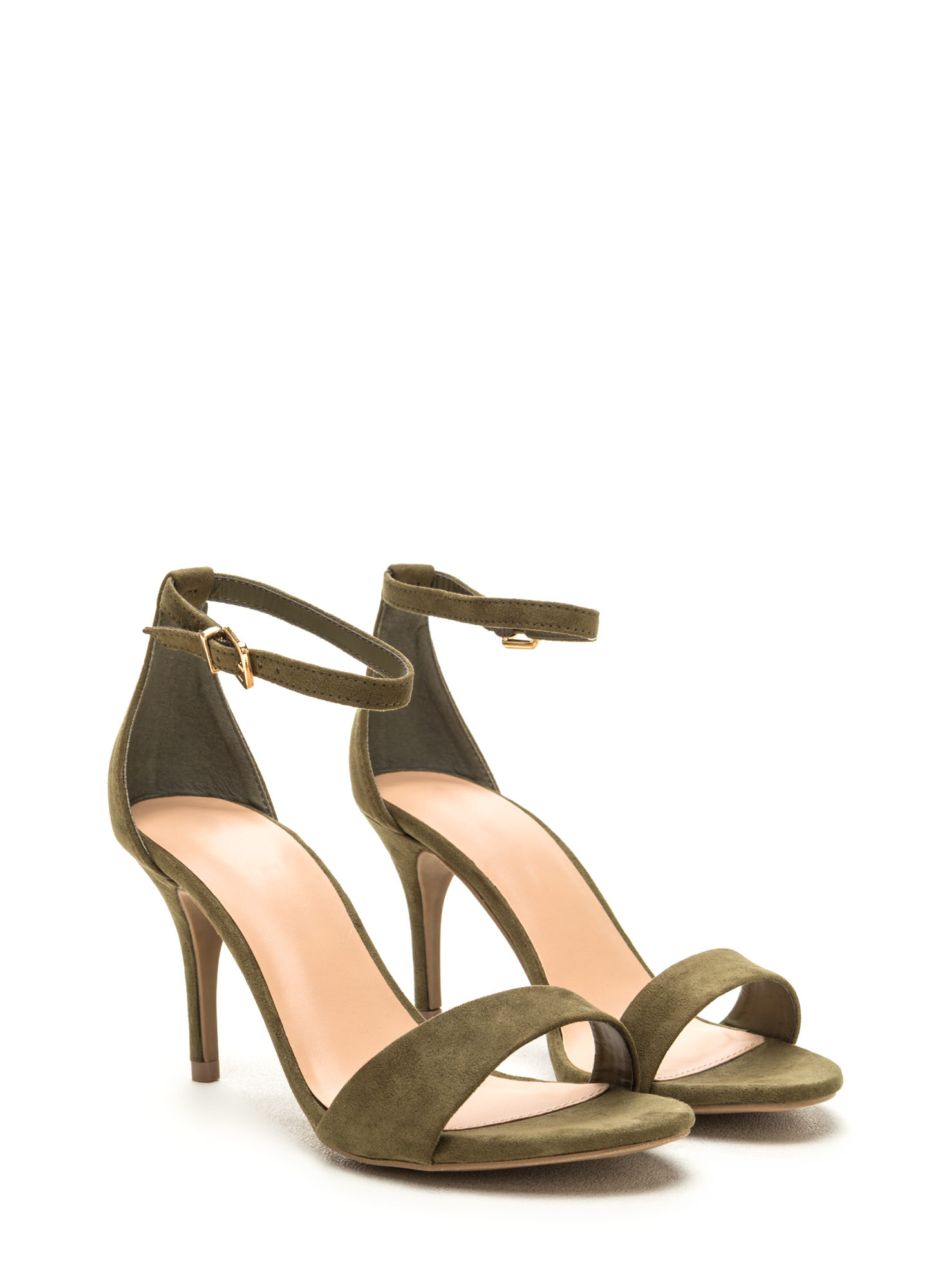 It Girl Classic Faux Suede Heels OLIVE