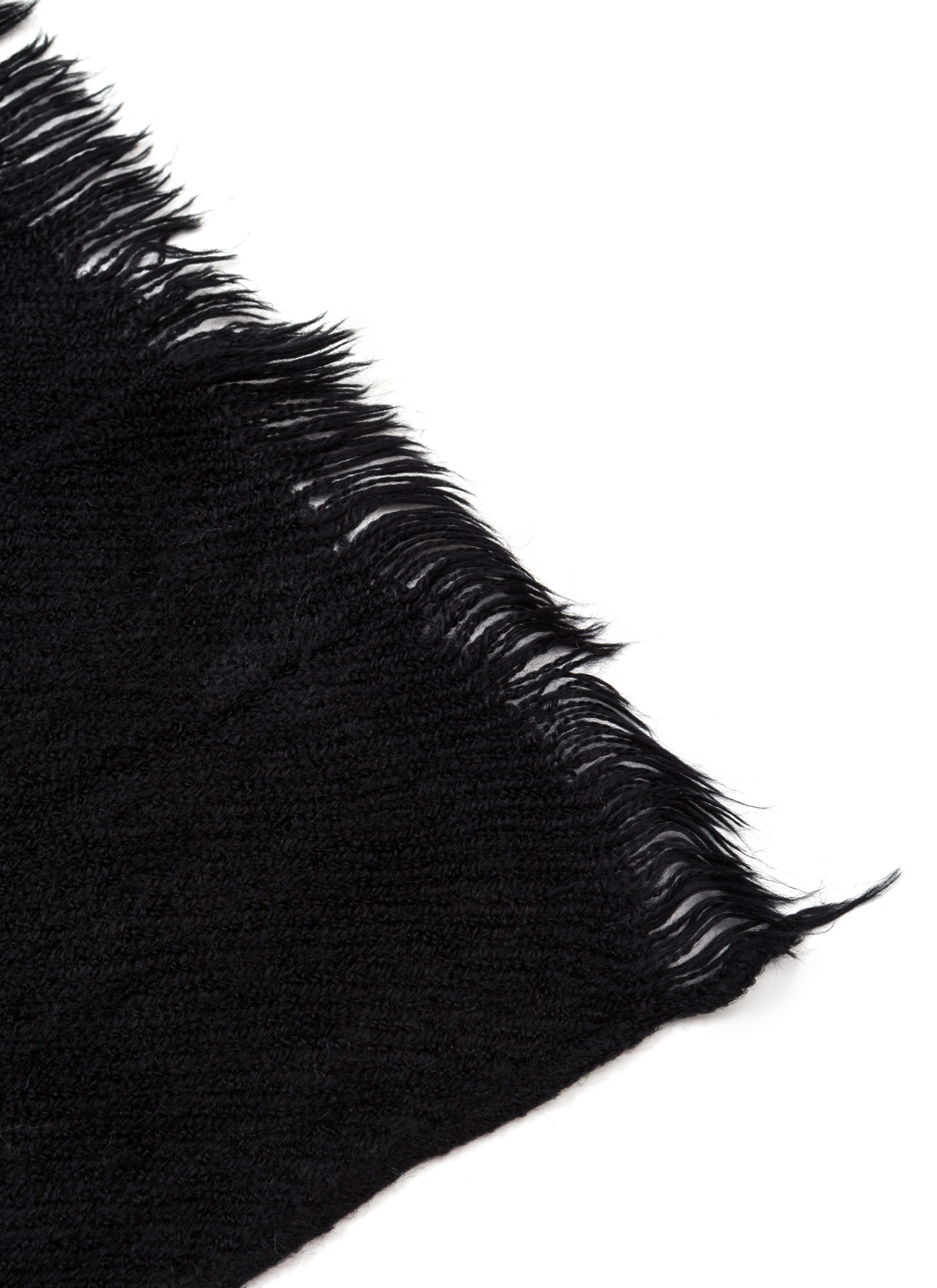 Wrap This Up Large Fringed Scarf BLACK
