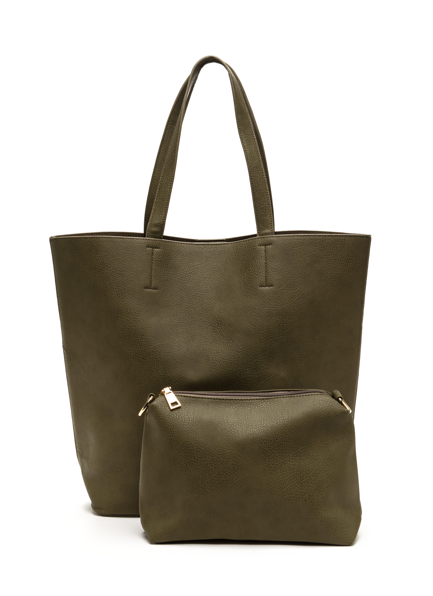 Commuter Chic Tote And Clutch Set OLIVE