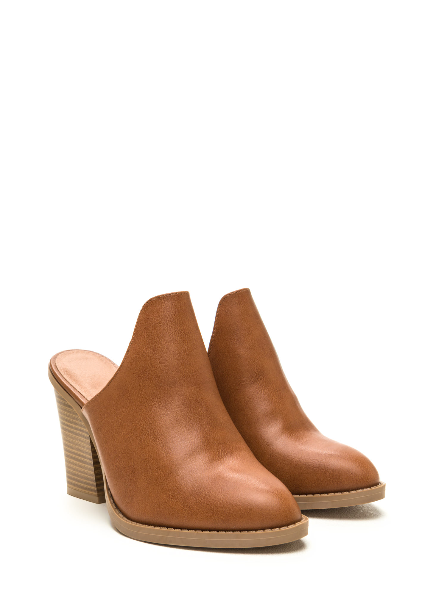 Case In Point Chunky Mule Heels WHISKY
