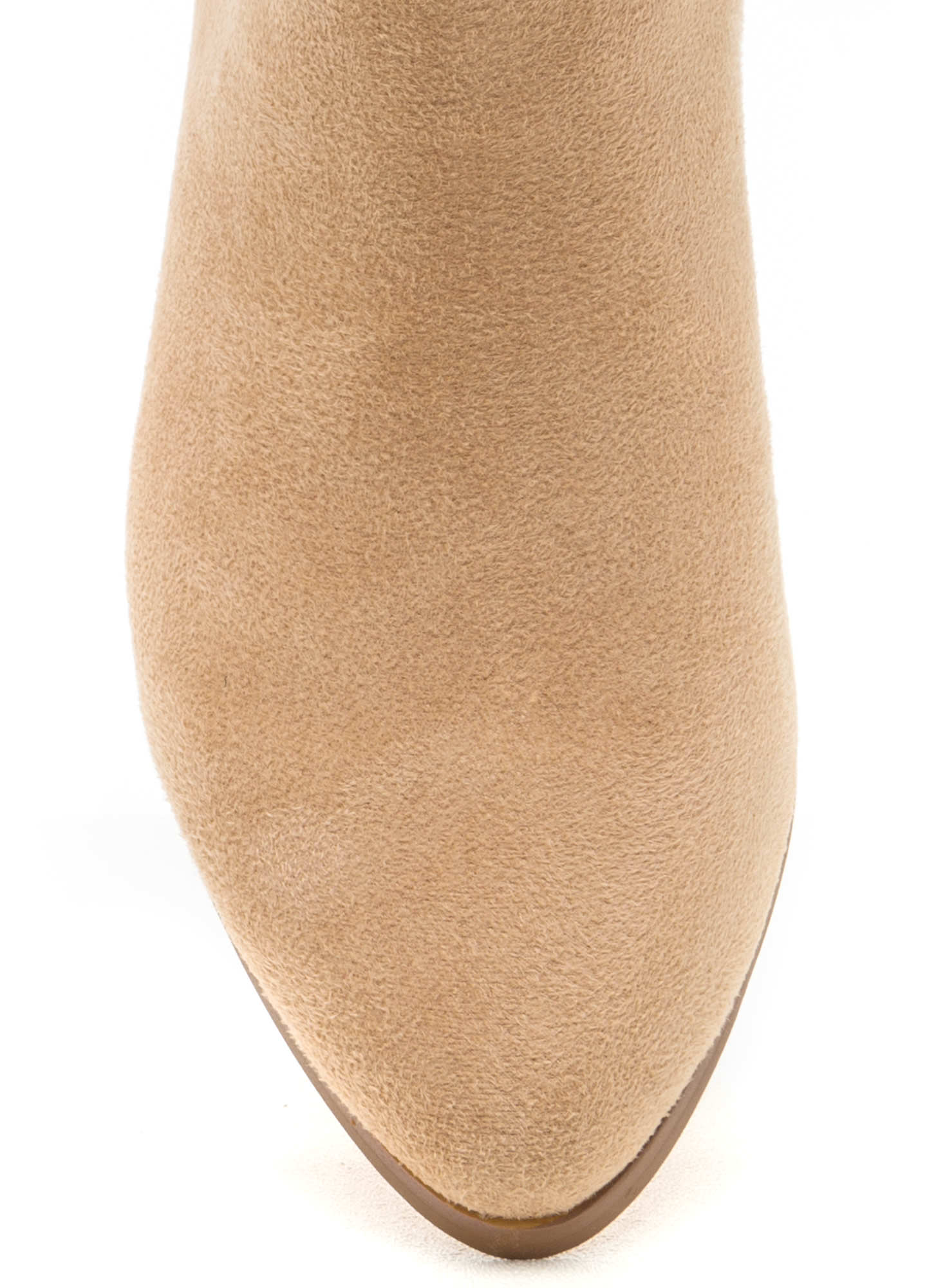 Ring Leader Lace-Up Chunky Booties NUDE