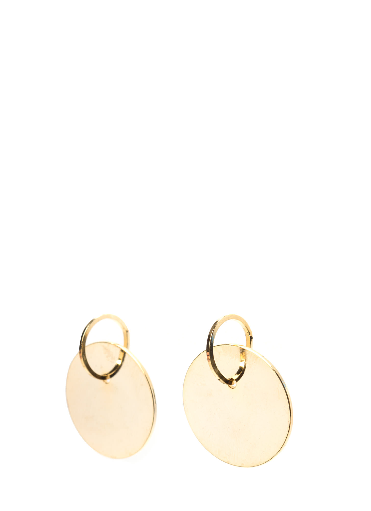 Chic Treatment Metallic Earrings GOLD