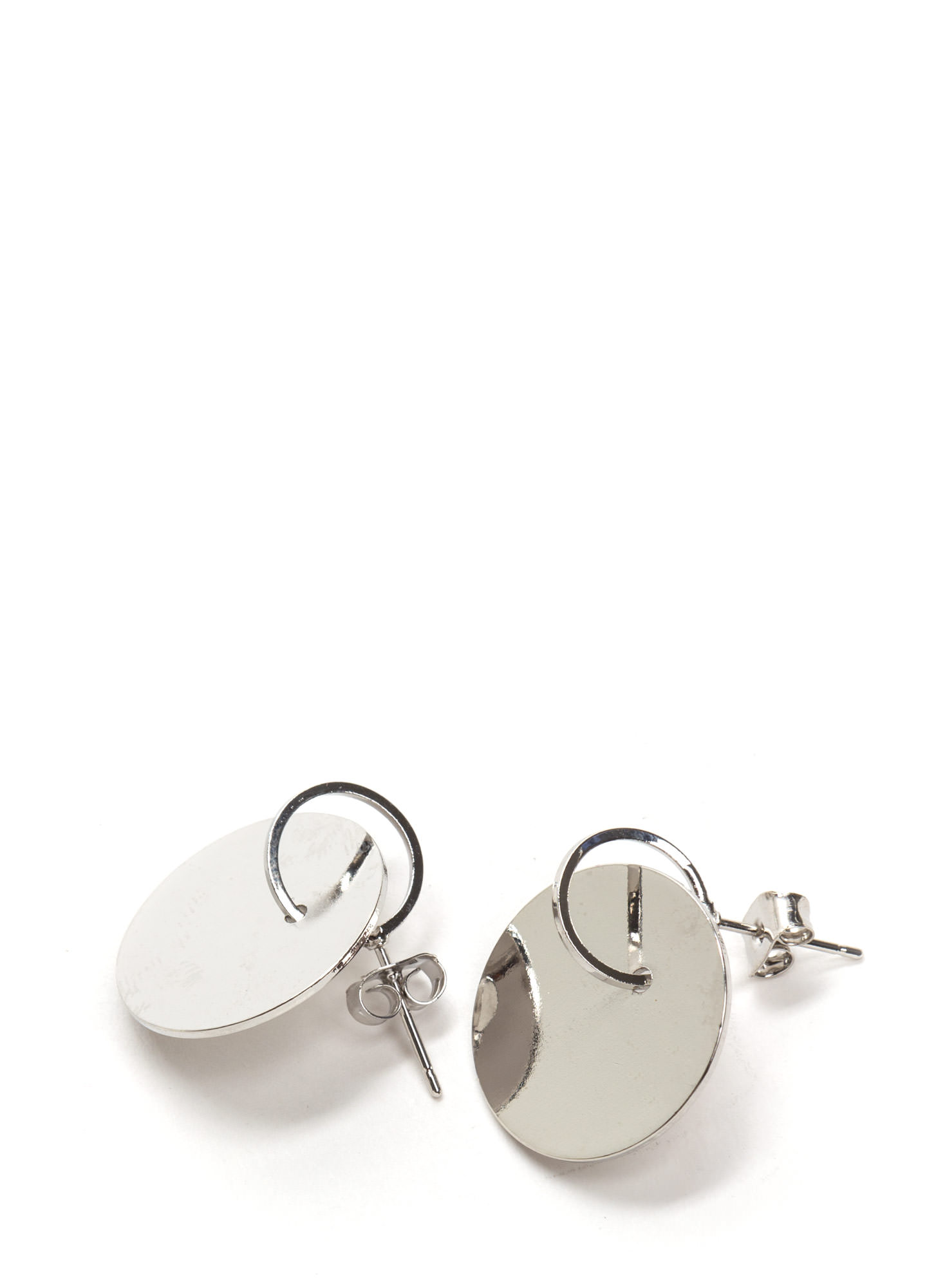 Chic Treatment Metallic Earrings SILVER