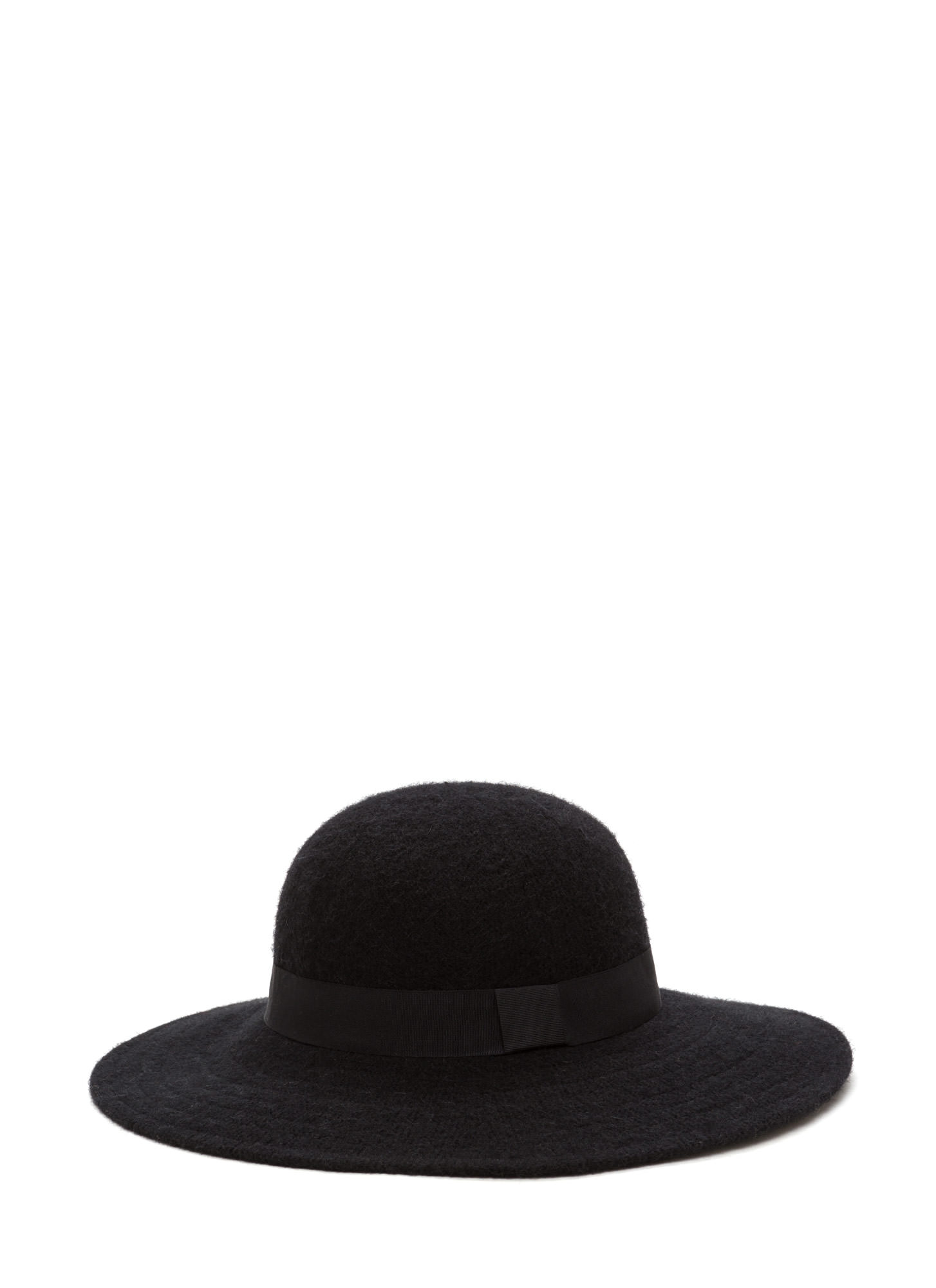 Park Slope Trip Wide Brim Wool Hat BLACK