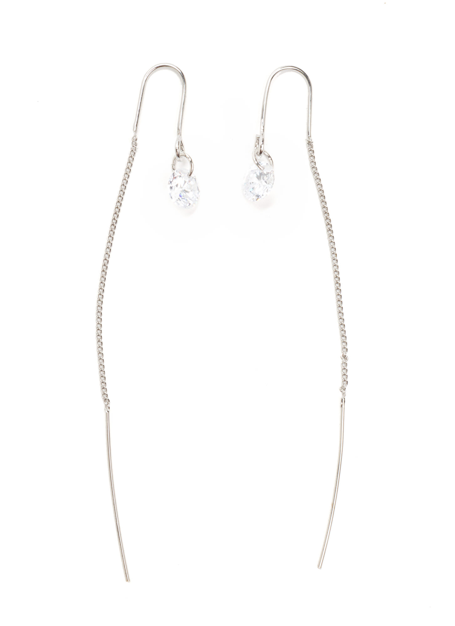 Threader The Better Jeweled Earrings  SILVERCLEAR