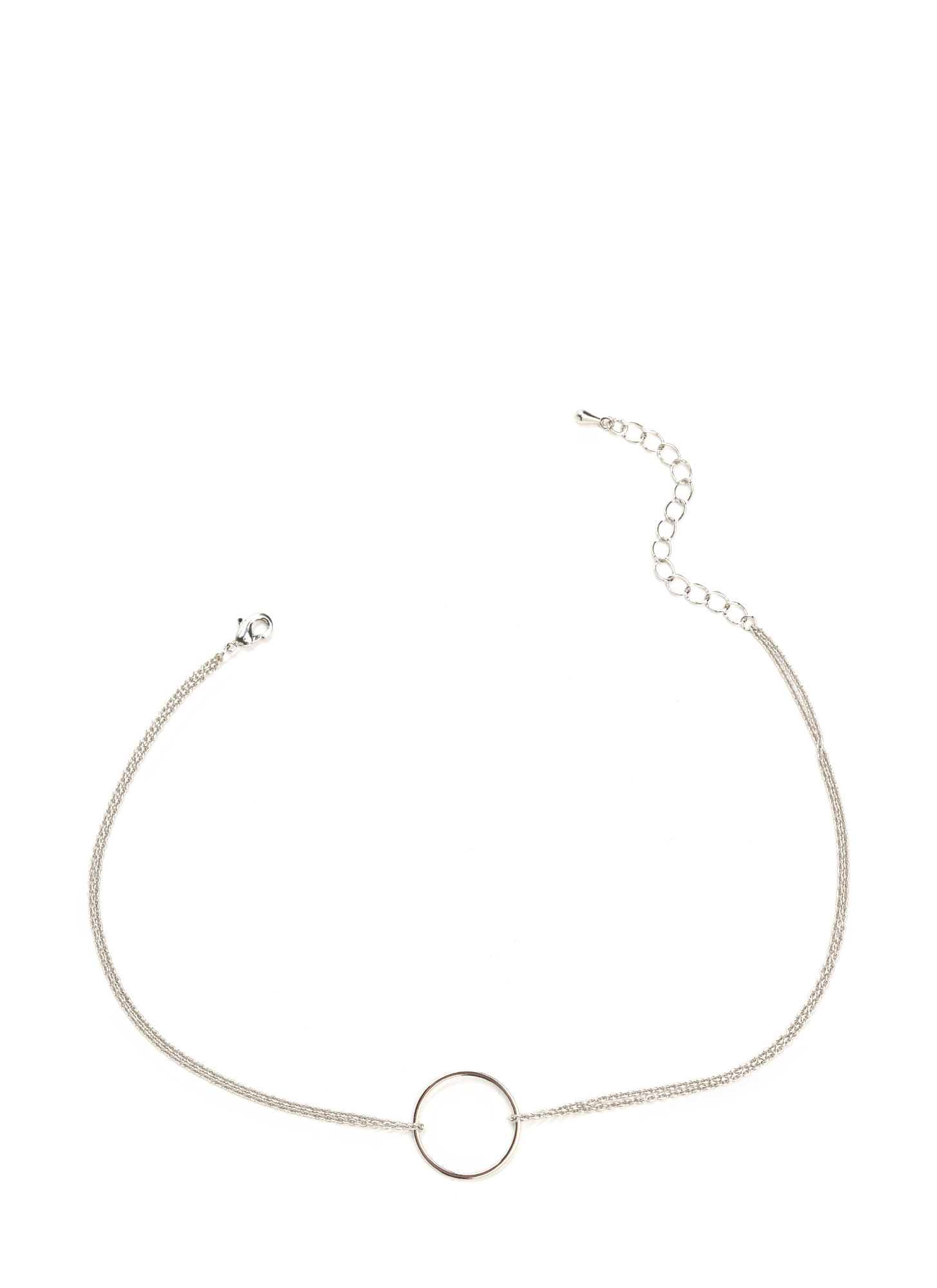 What Goes Around Pendant Choker SILVER