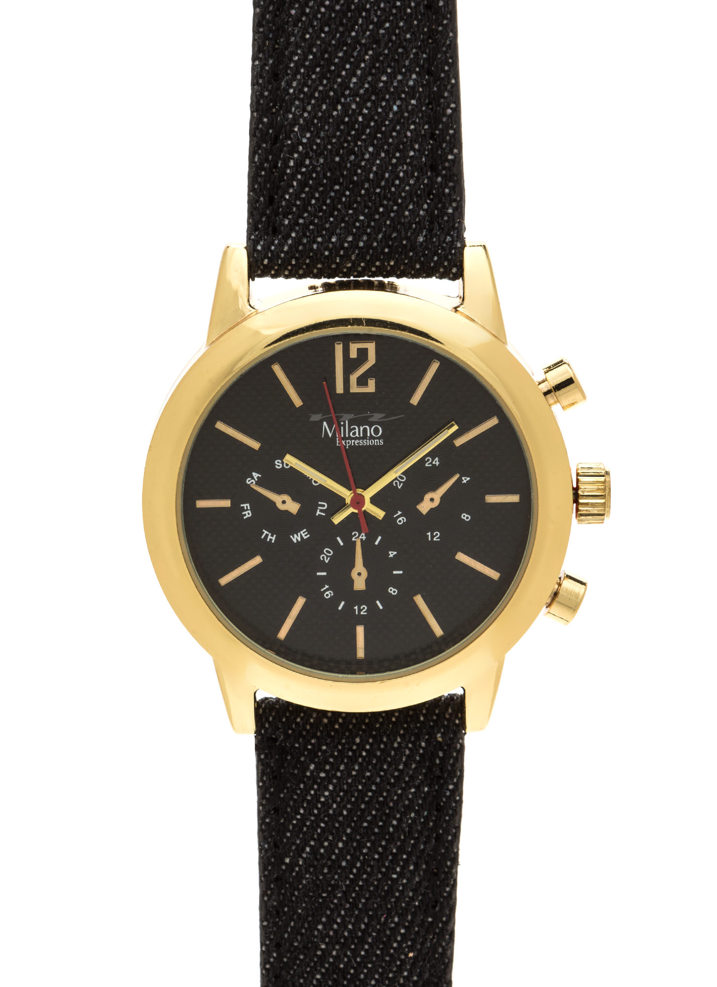 Time Out Canvas Chronograph Watch BLACKGOLD