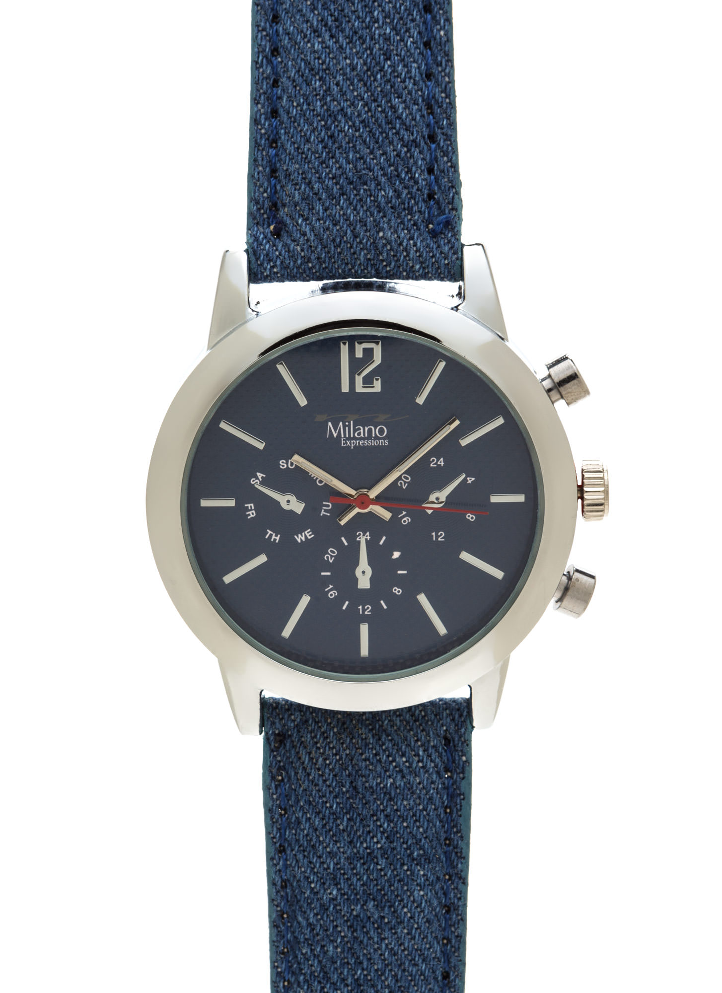 Time Out Canvas Chronograph Watch DENIMSILVER