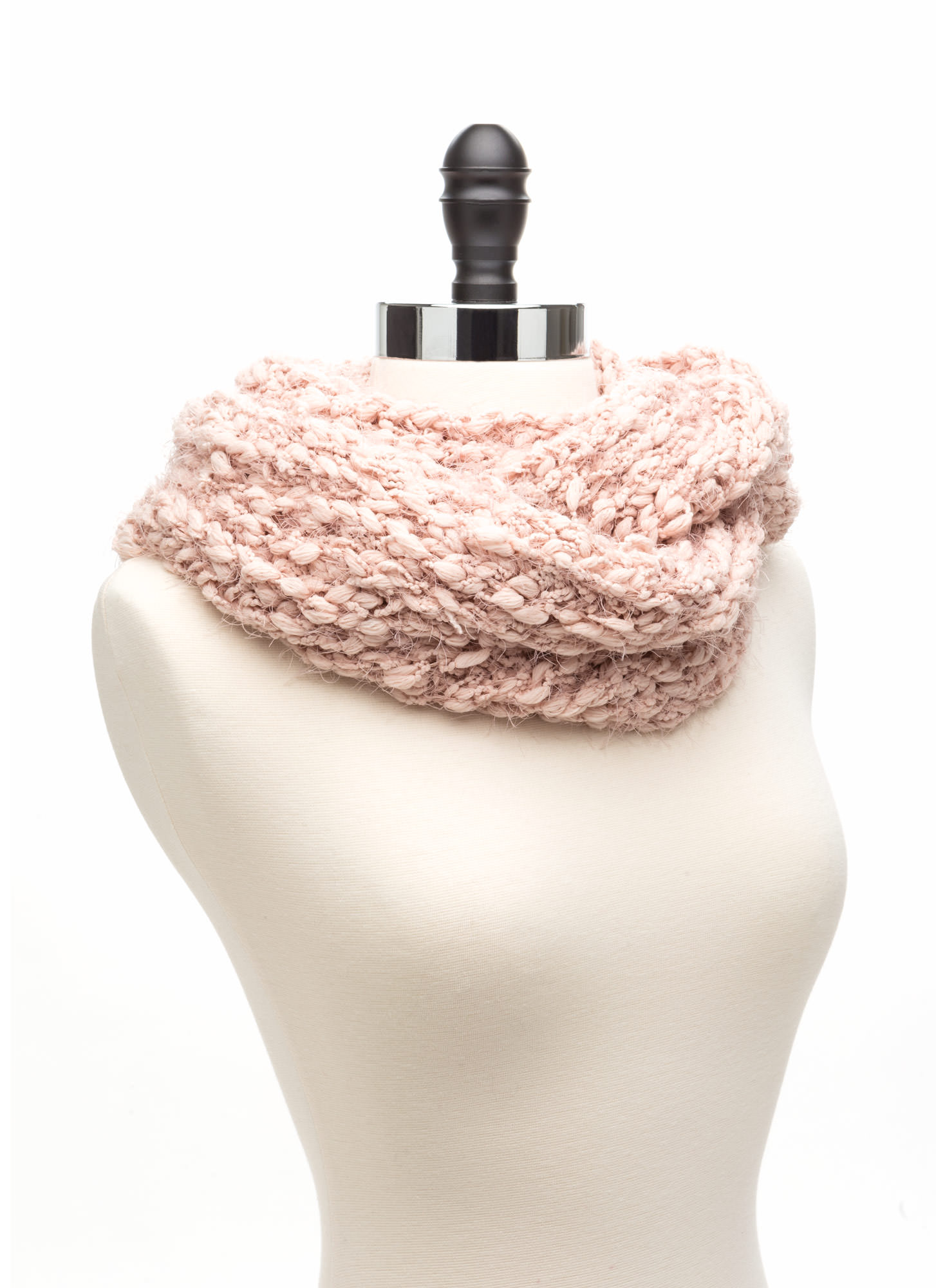 No Chill Chunky Knit Infinity Scarf ROSE