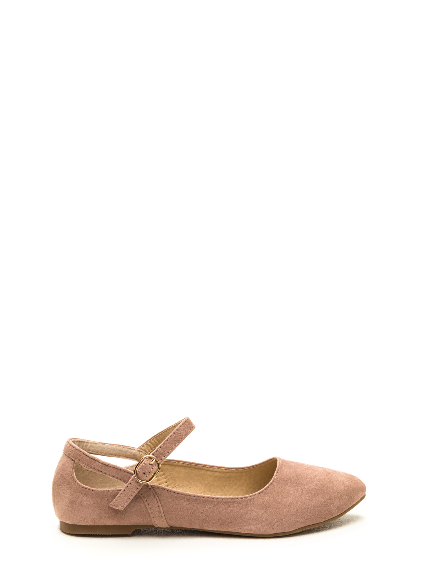 Chic Footnote Pointy Cut-Out Flats MAUVE