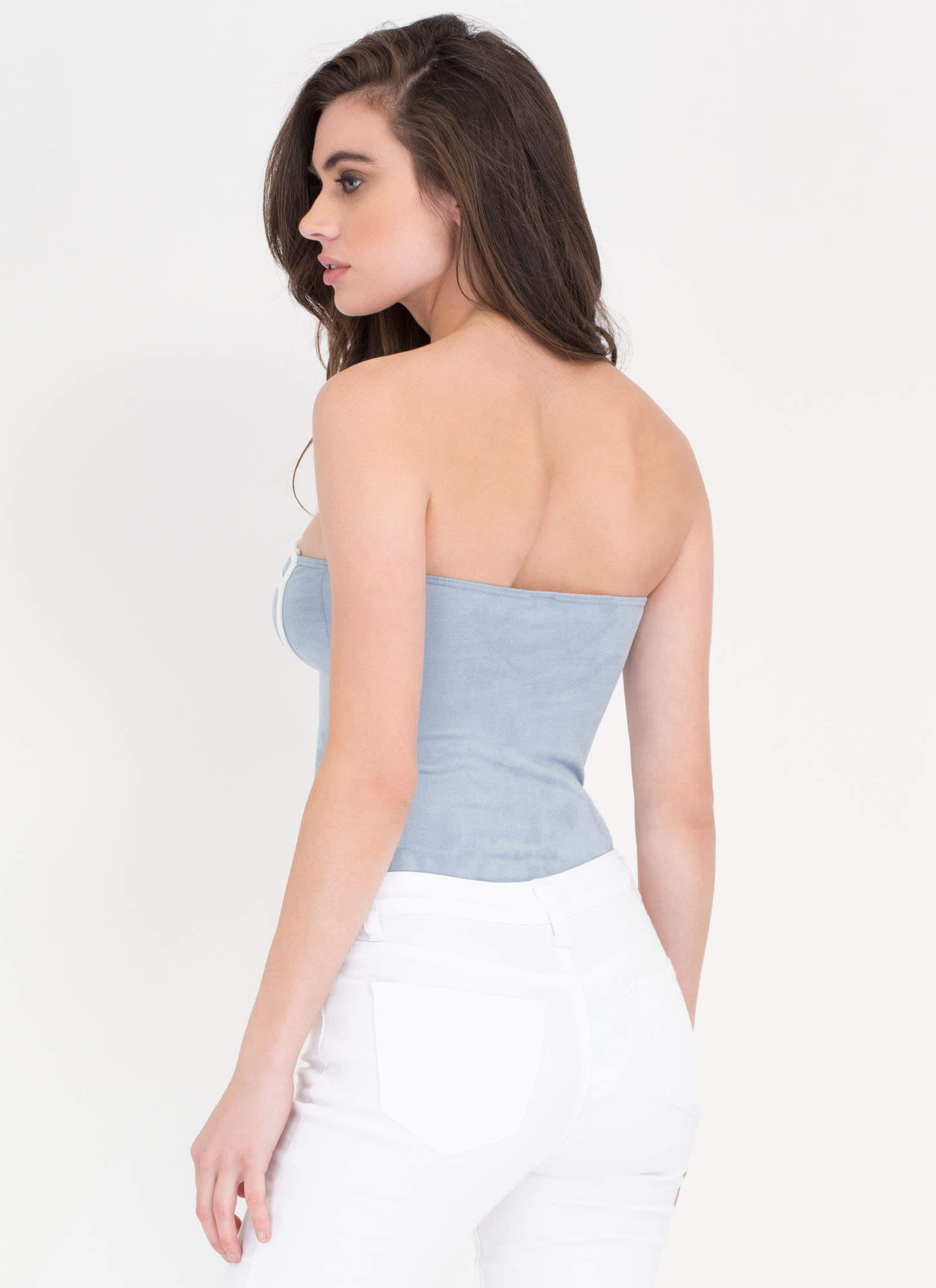 Pipe Up The Crowd Strapless Bodysuit BLUE