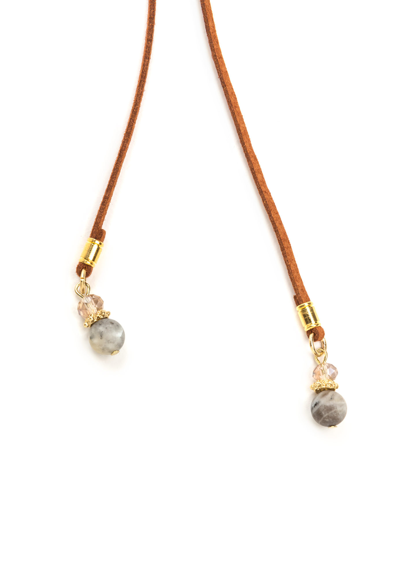 Bad To The Stone Beaded Bolo Necklace BROWMULTI