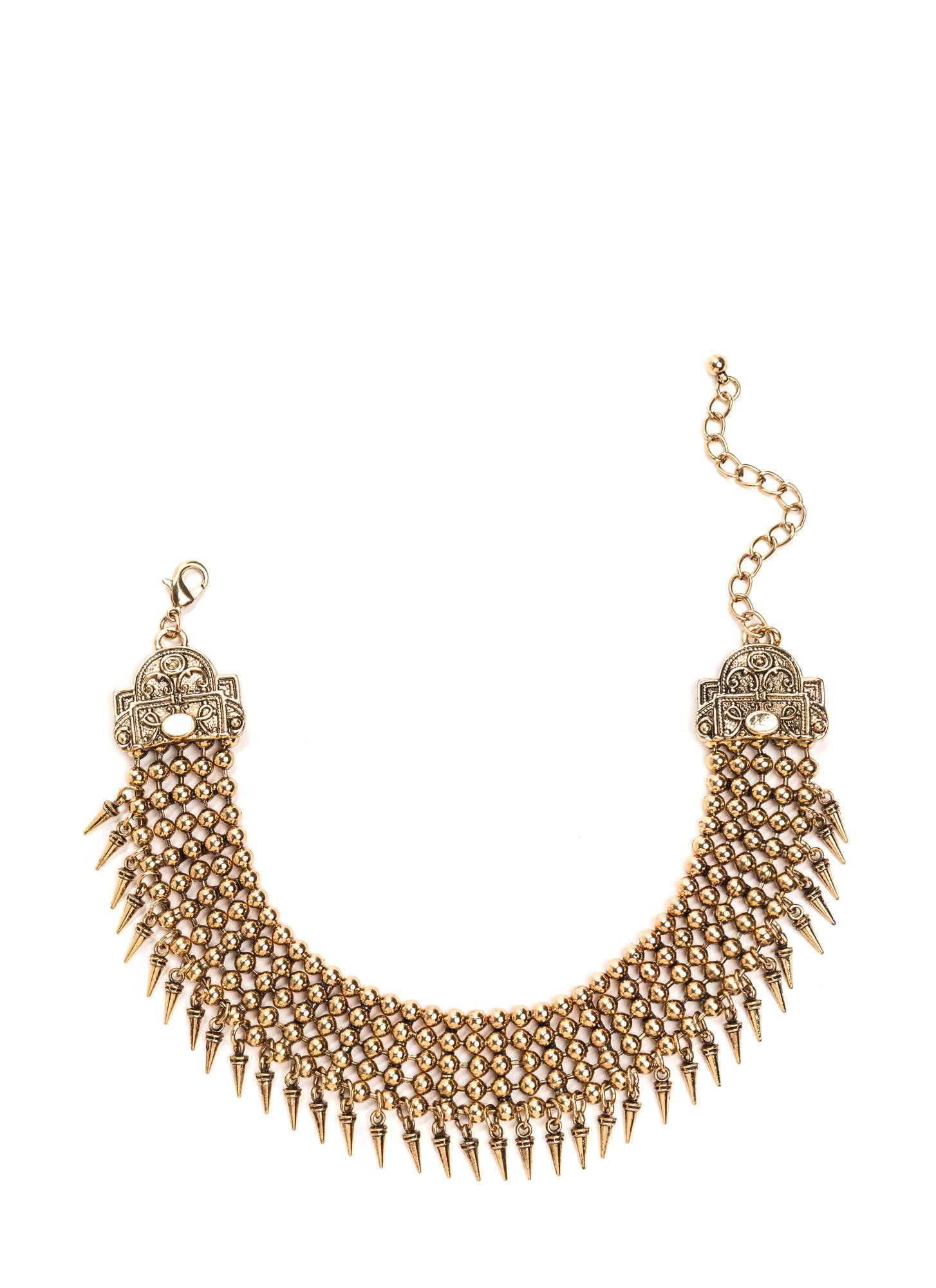 Legend Has It Metal Statement Choker DKGOLD