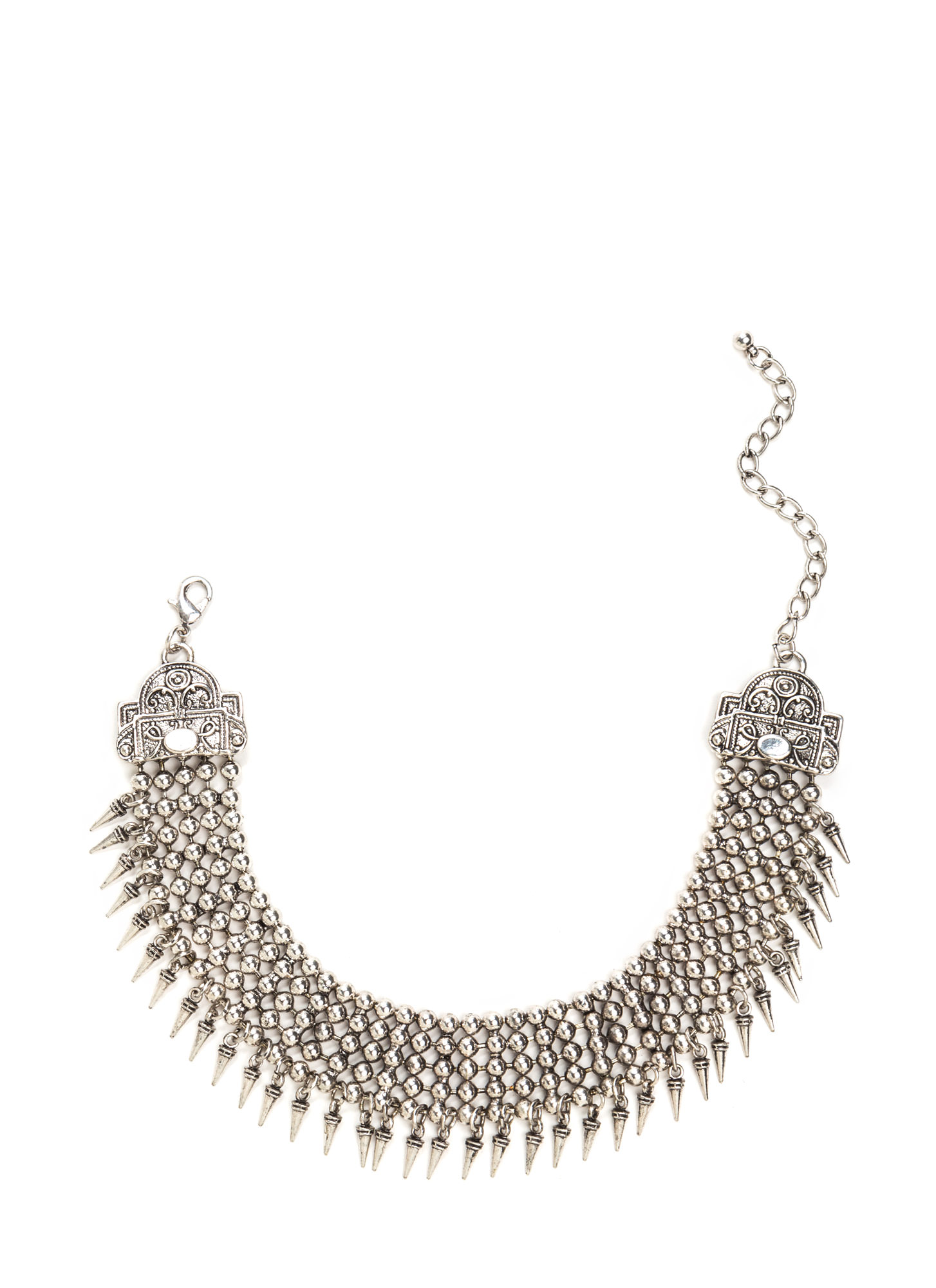 Legend Has It Metal Statement Choker DKSILVER
