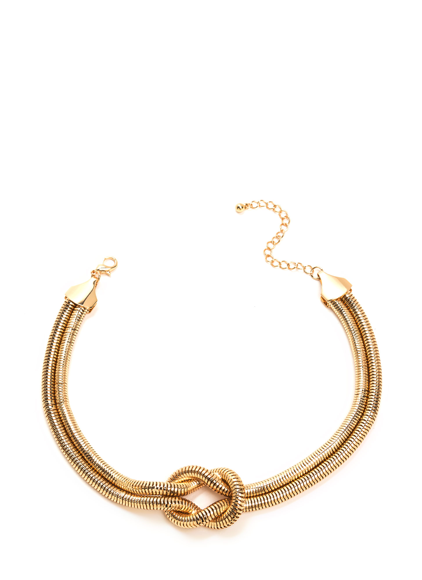 Knot Now Double Snake Chain Necklace GOLD